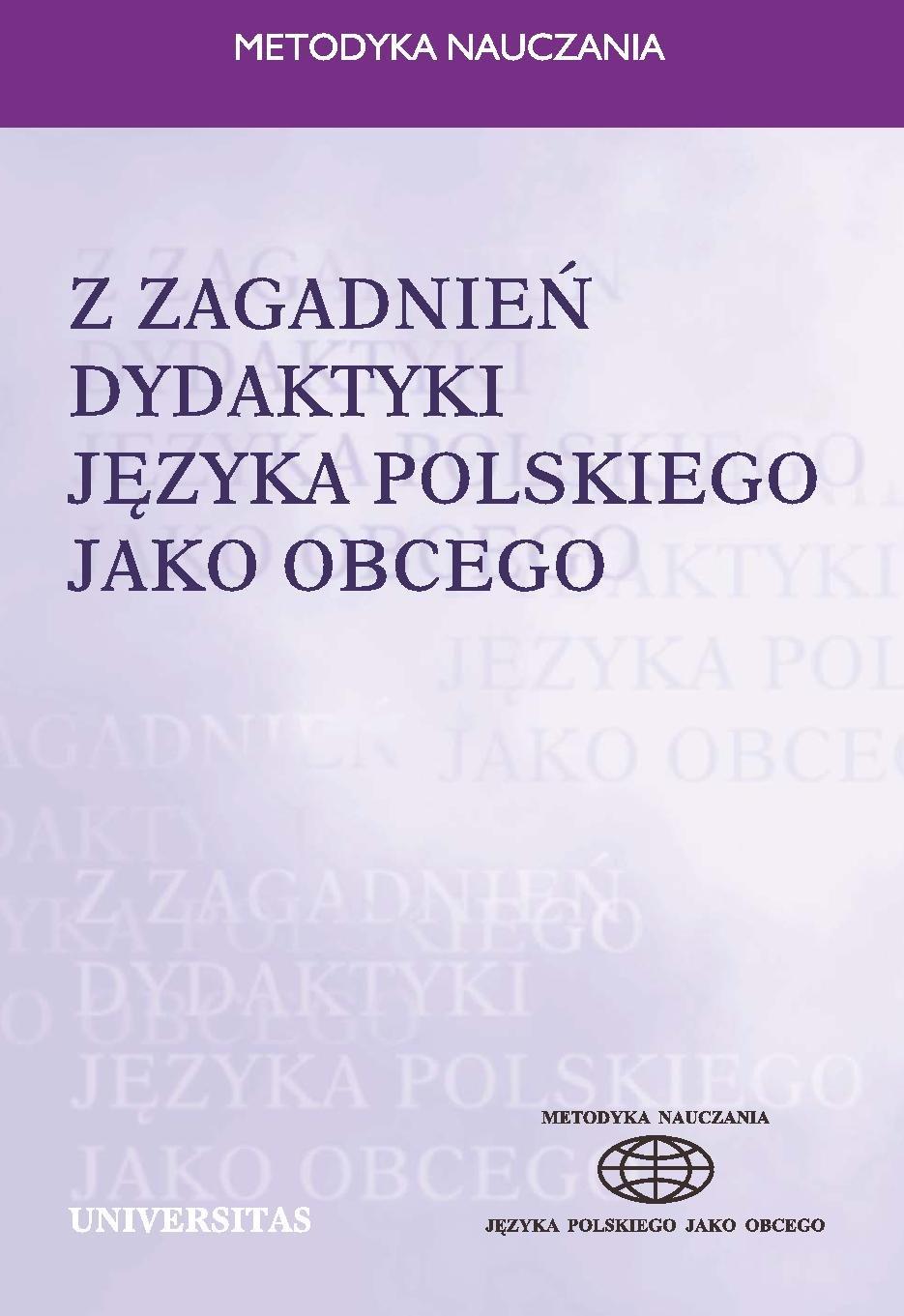 Z zagadnień dydaktyki języka polskiego jako obcego - Ebook (Książka PDF) do pobrania w formacie PDF