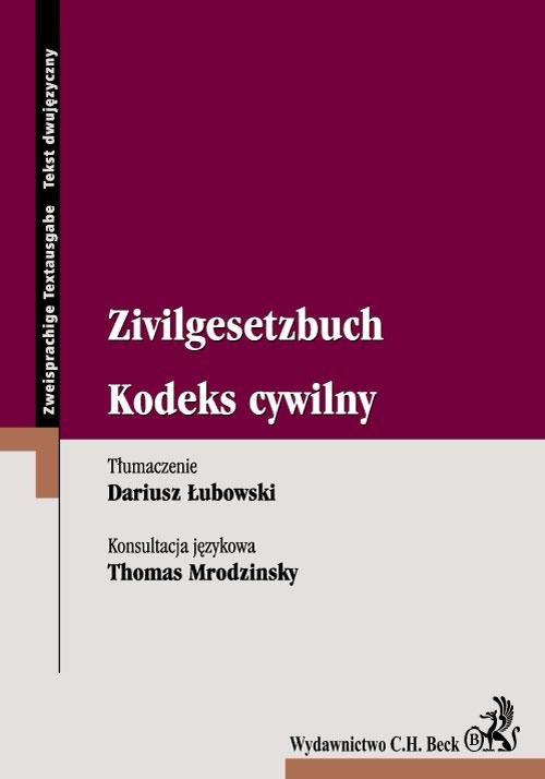 Kodeks cywilny Zivilgesetzbuch - Ebook (Książka EPUB) do pobrania w formacie EPUB