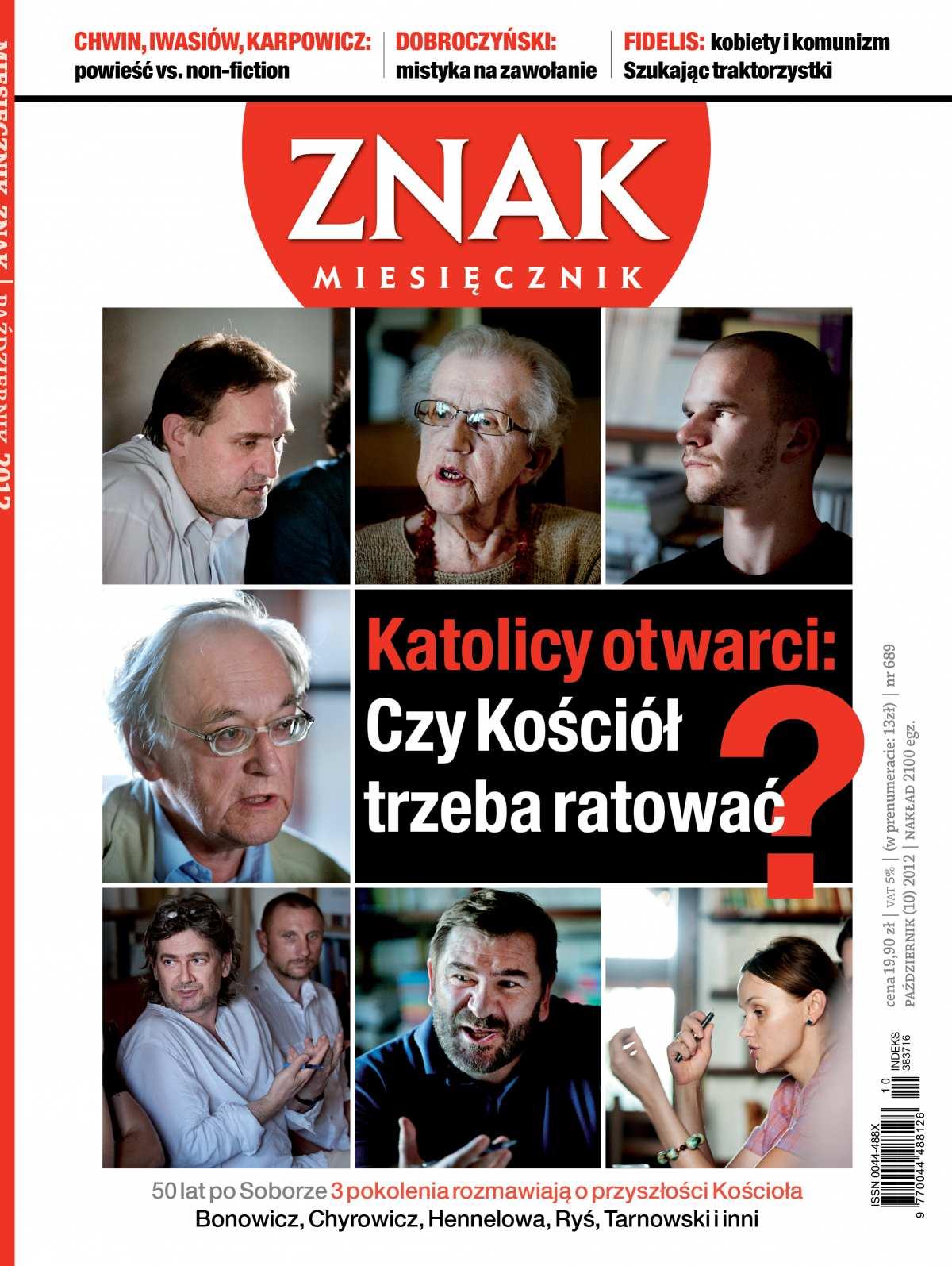 Miesięcznik Znak. Październik 2012 - Ebook (Książka PDF) do pobrania w formacie PDF