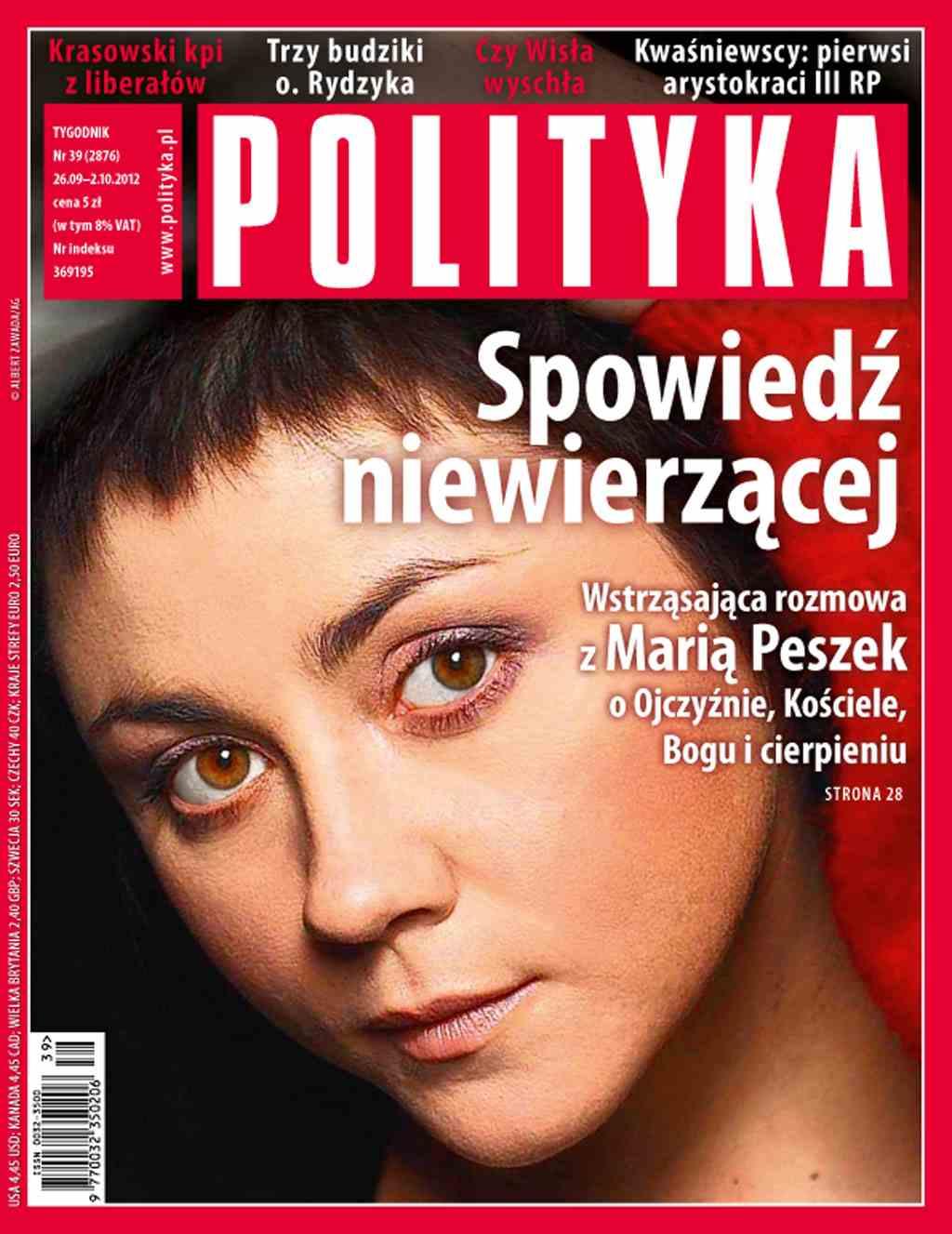 Polityka nr 39/2012 - Ebook (Książka PDF) do pobrania w formacie PDF