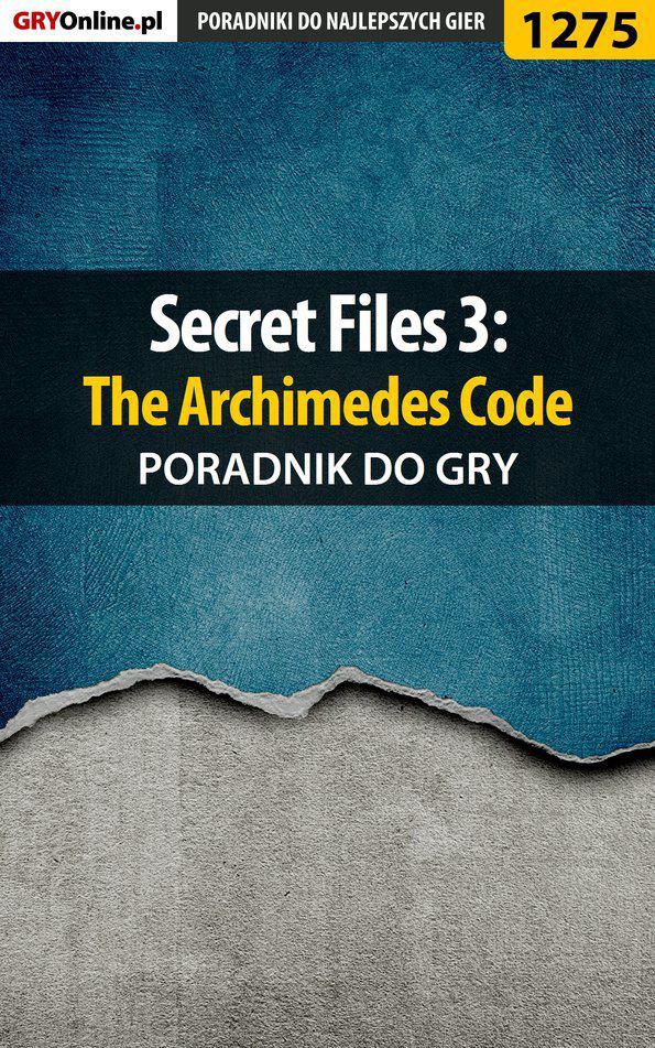 Secret Files 3: The Archimedes Code - poradnik do gry - Ebook (Książka PDF) do pobrania w formacie PDF