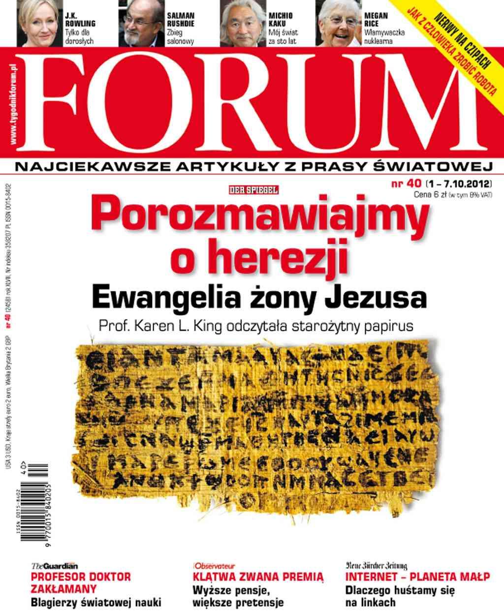 Forum nr 40/2012 - Ebook (Książka PDF) do pobrania w formacie PDF