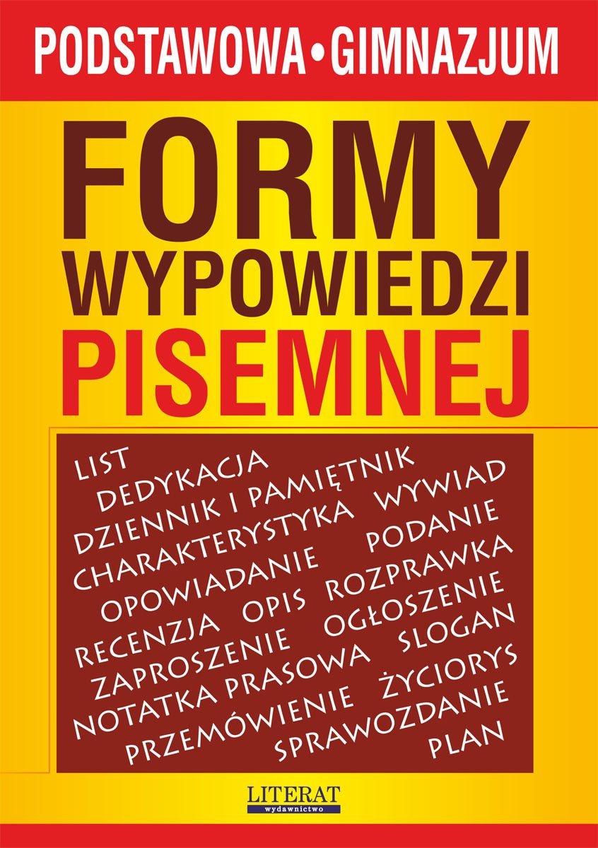Formy wypowiedzi pisemnej - Ebook (Książka PDF) do pobrania w formacie PDF