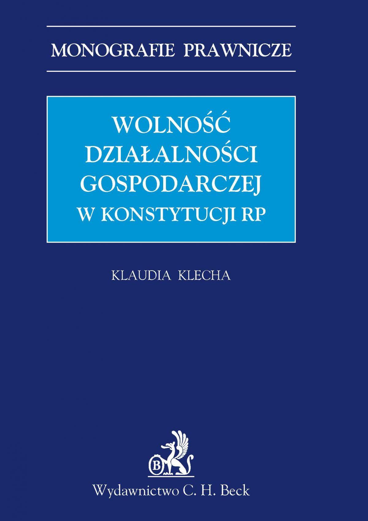 Wolność działalności gospodarczej w konstytucji RP - Ebook (Książka PDF) do pobrania w formacie PDF
