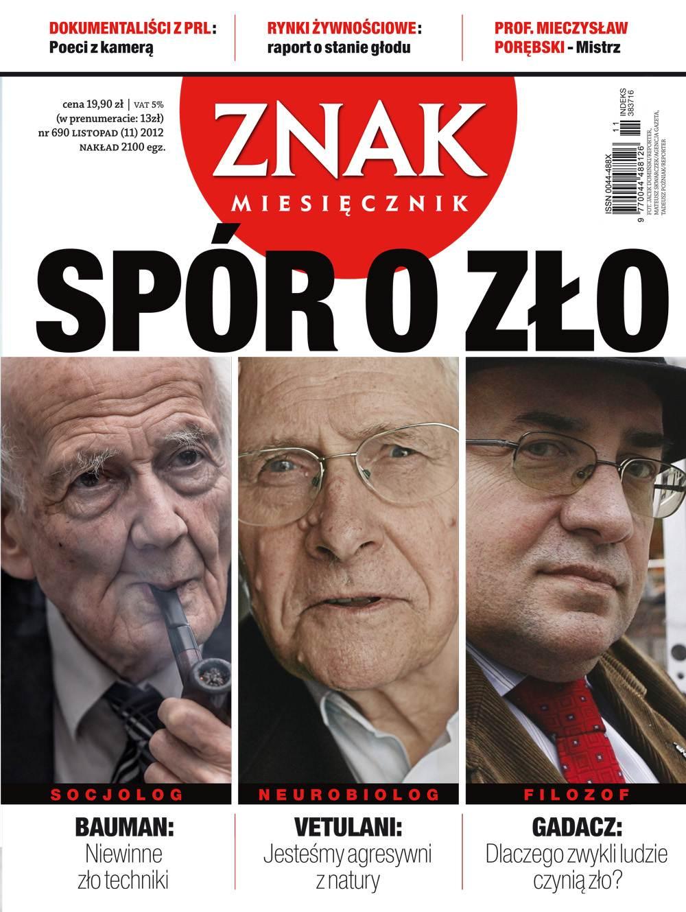 Miesięcznik Znak. Listopad 2012 - Ebook (Książka PDF) do pobrania w formacie PDF
