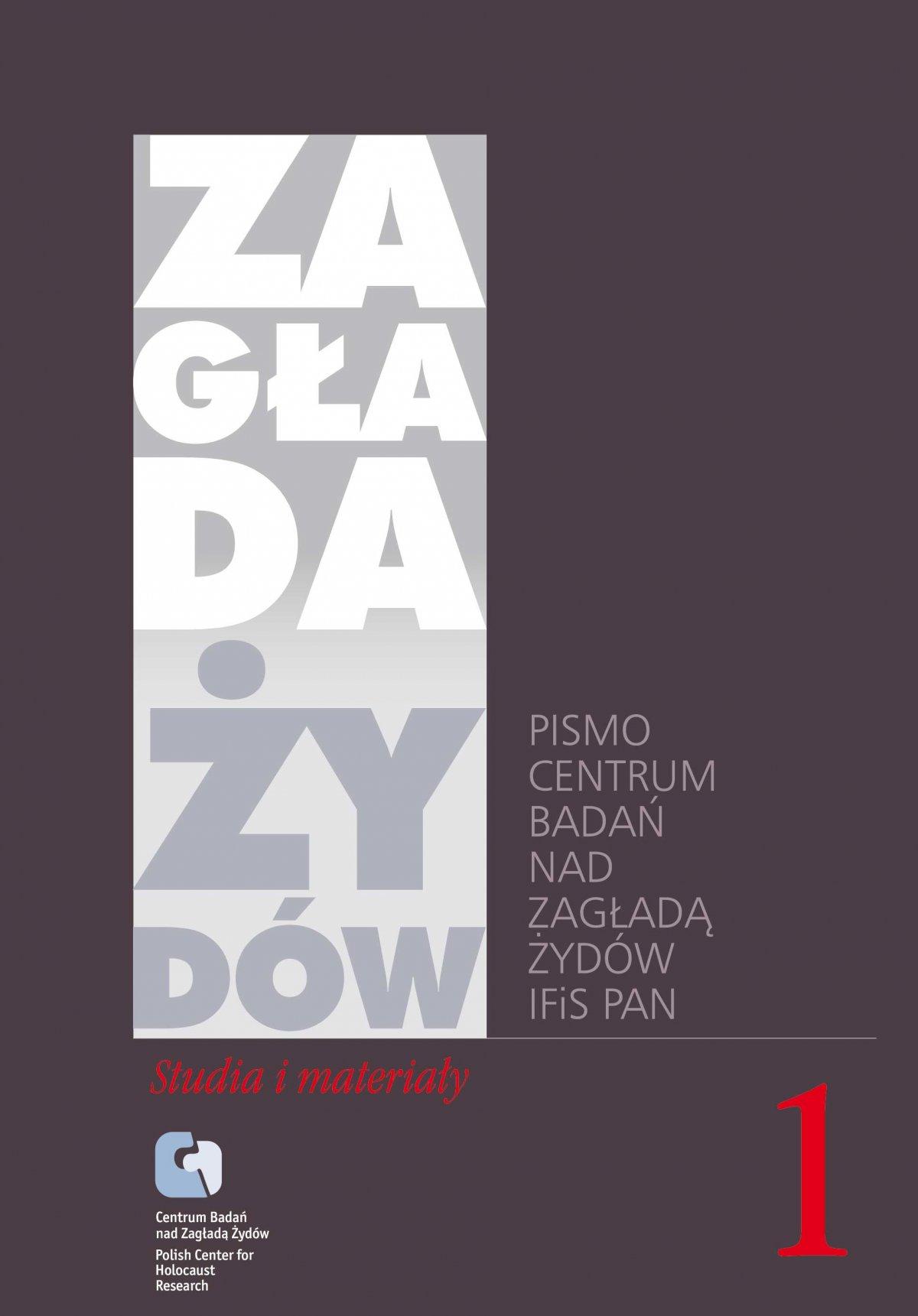 Zagłada Żydów. Studia i Materiały vol. 1 R. 2005 - Ebook (Książka EPUB) do pobrania w formacie EPUB