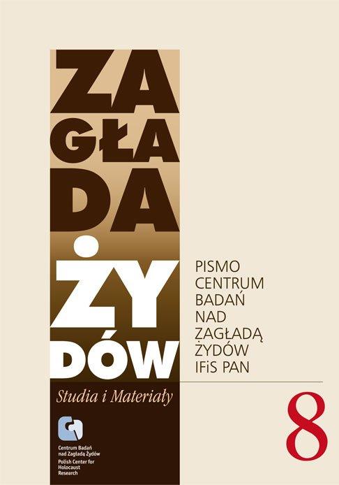 Zagłada Żydów. Studia i Materiały vol. 8 R. 2012 - Ebook (Książka EPUB) do pobrania w formacie EPUB