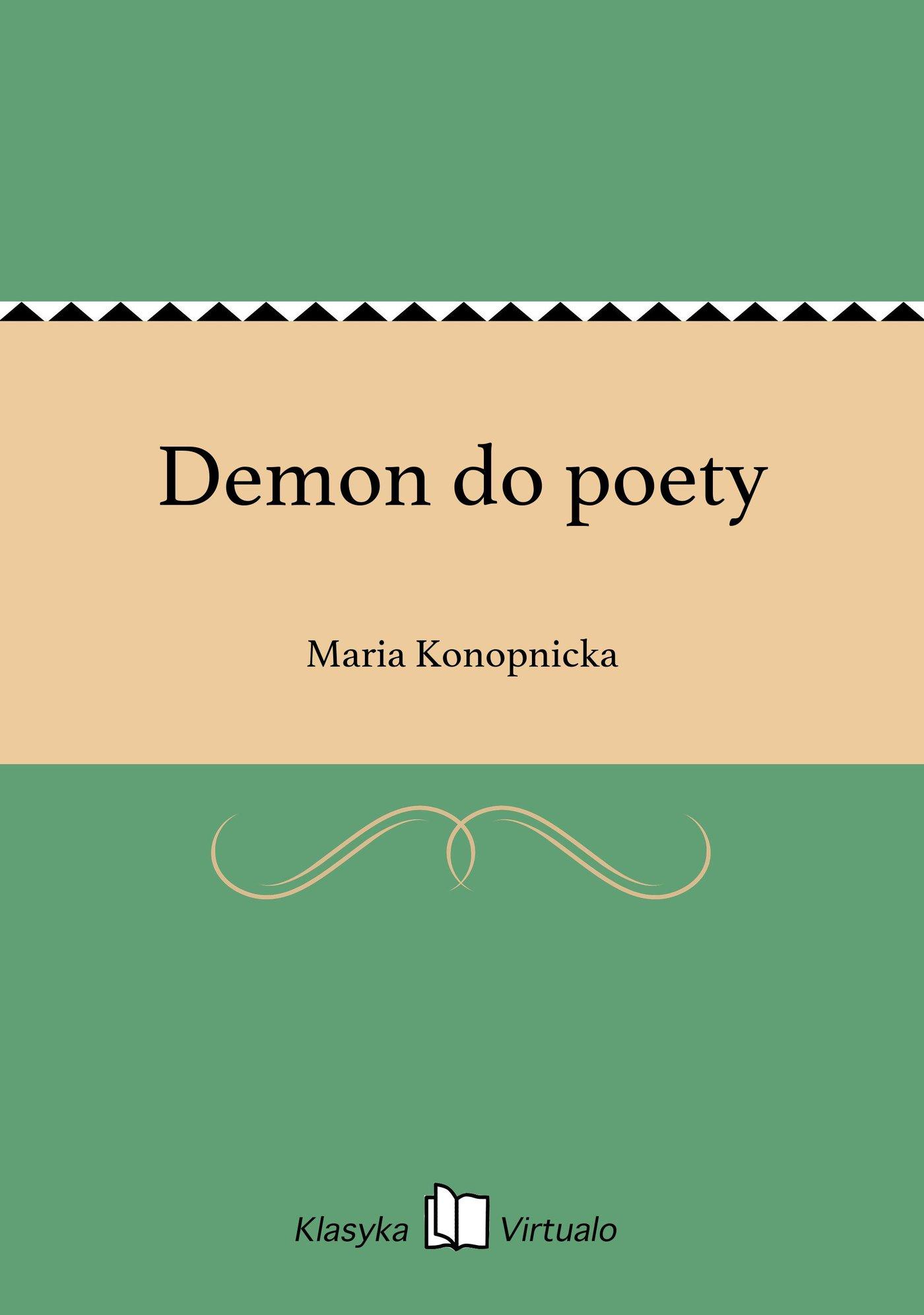 Demon do poety - Ebook (Książka na Kindle) do pobrania w formacie MOBI