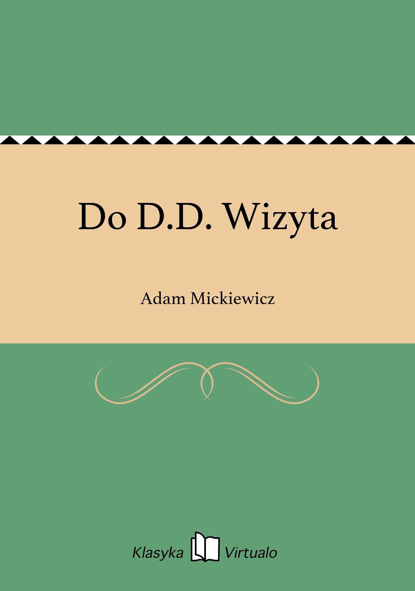 Do D.D. Wizyta - Ebook (Książka na Kindle) do pobrania w formacie MOBI