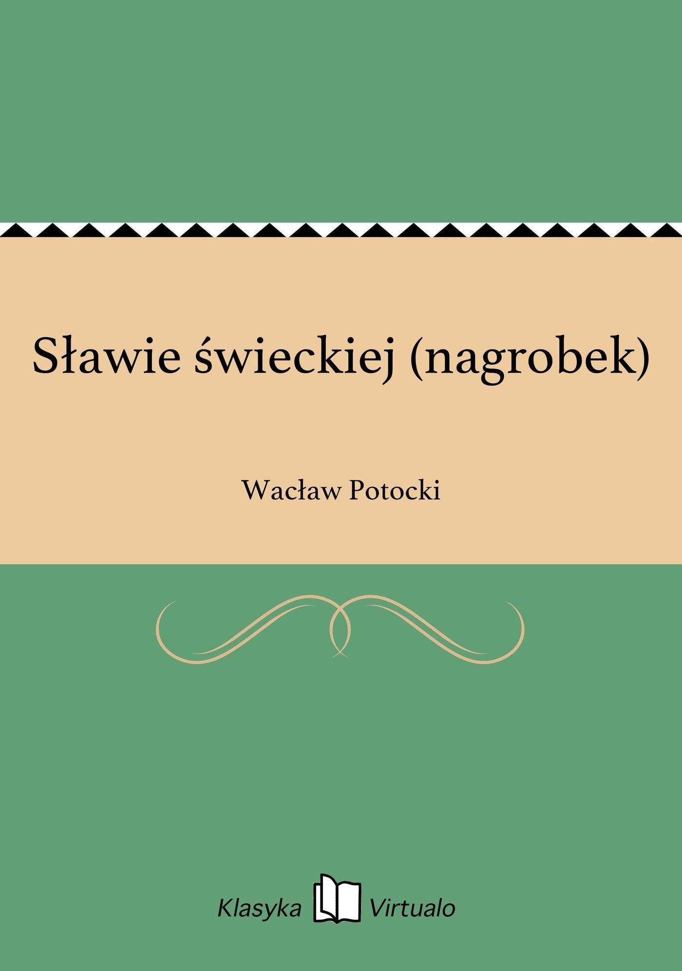 Sławie świeckiej (nagrobek) - Ebook (Książka na Kindle) do pobrania w formacie MOBI