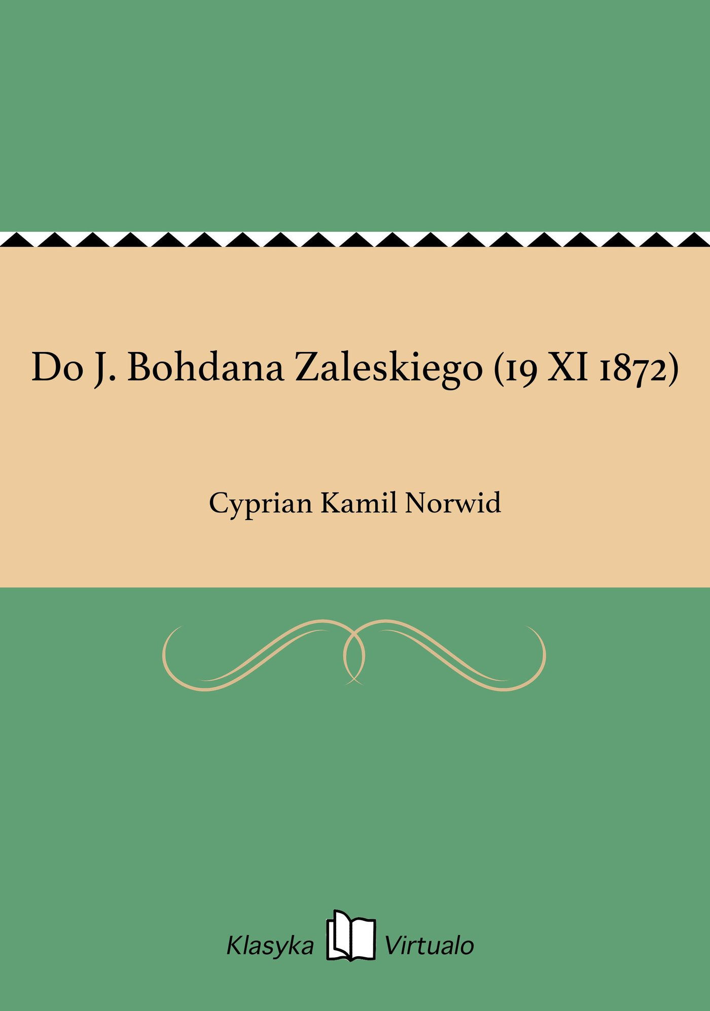 Do J. Bohdana Zaleskiego (19 XI 1872) - Ebook (Książka na Kindle) do pobrania w formacie MOBI