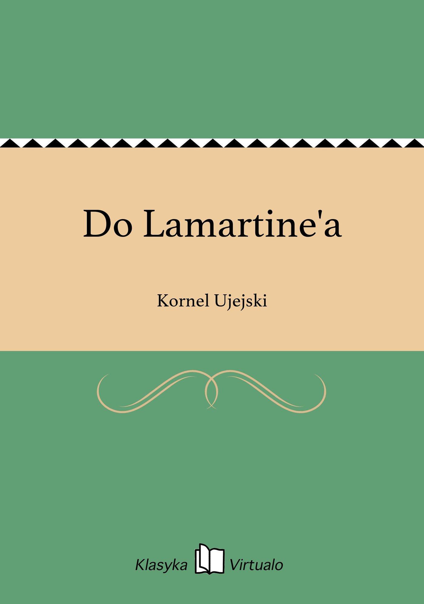 Do Lamartine'a - Ebook (Książka na Kindle) do pobrania w formacie MOBI