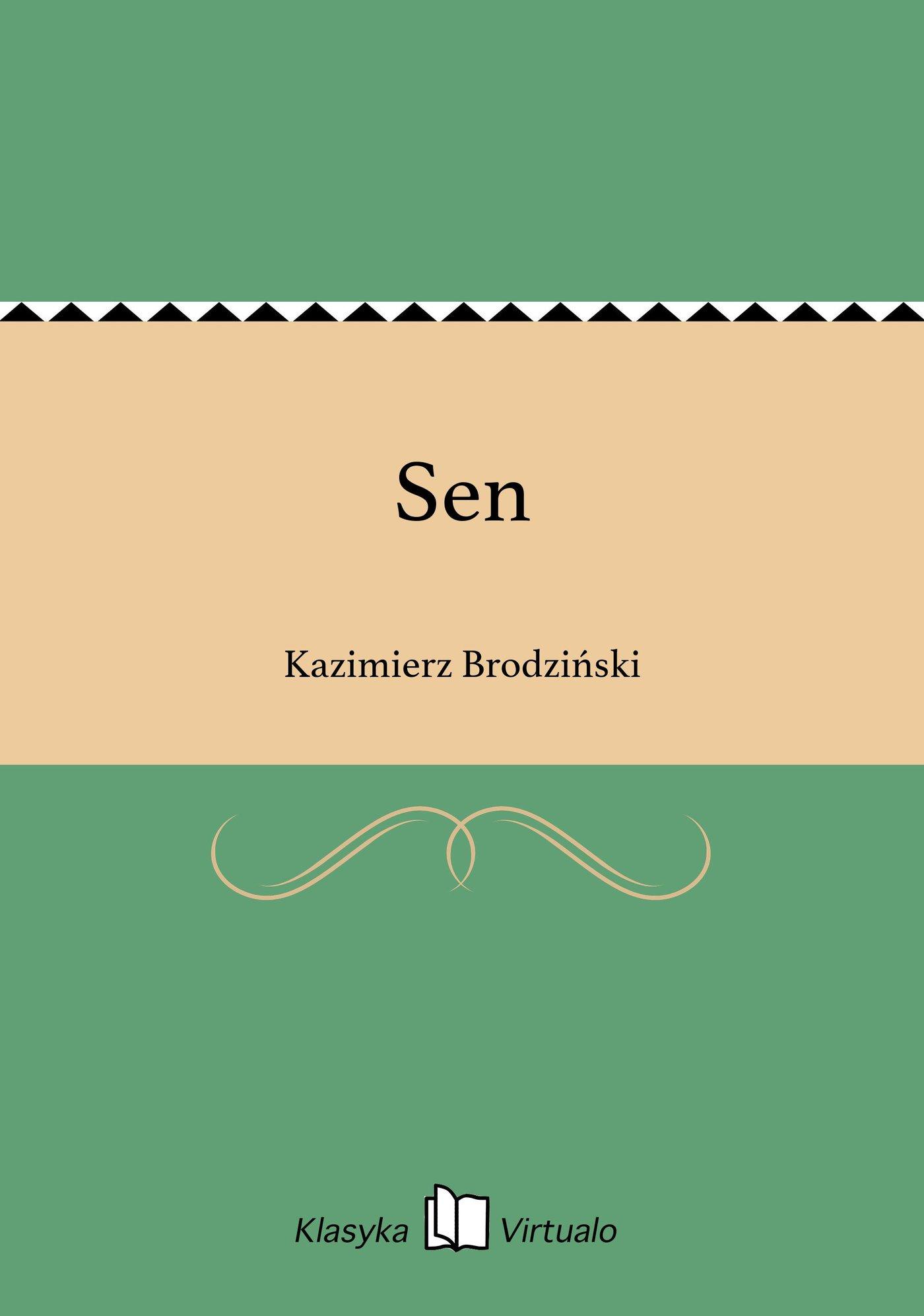 Sen - Ebook (Książka na Kindle) do pobrania w formacie MOBI