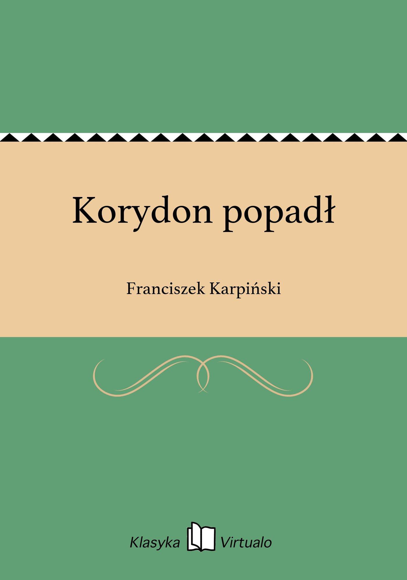 Korydon popadł - Ebook (Książka na Kindle) do pobrania w formacie MOBI