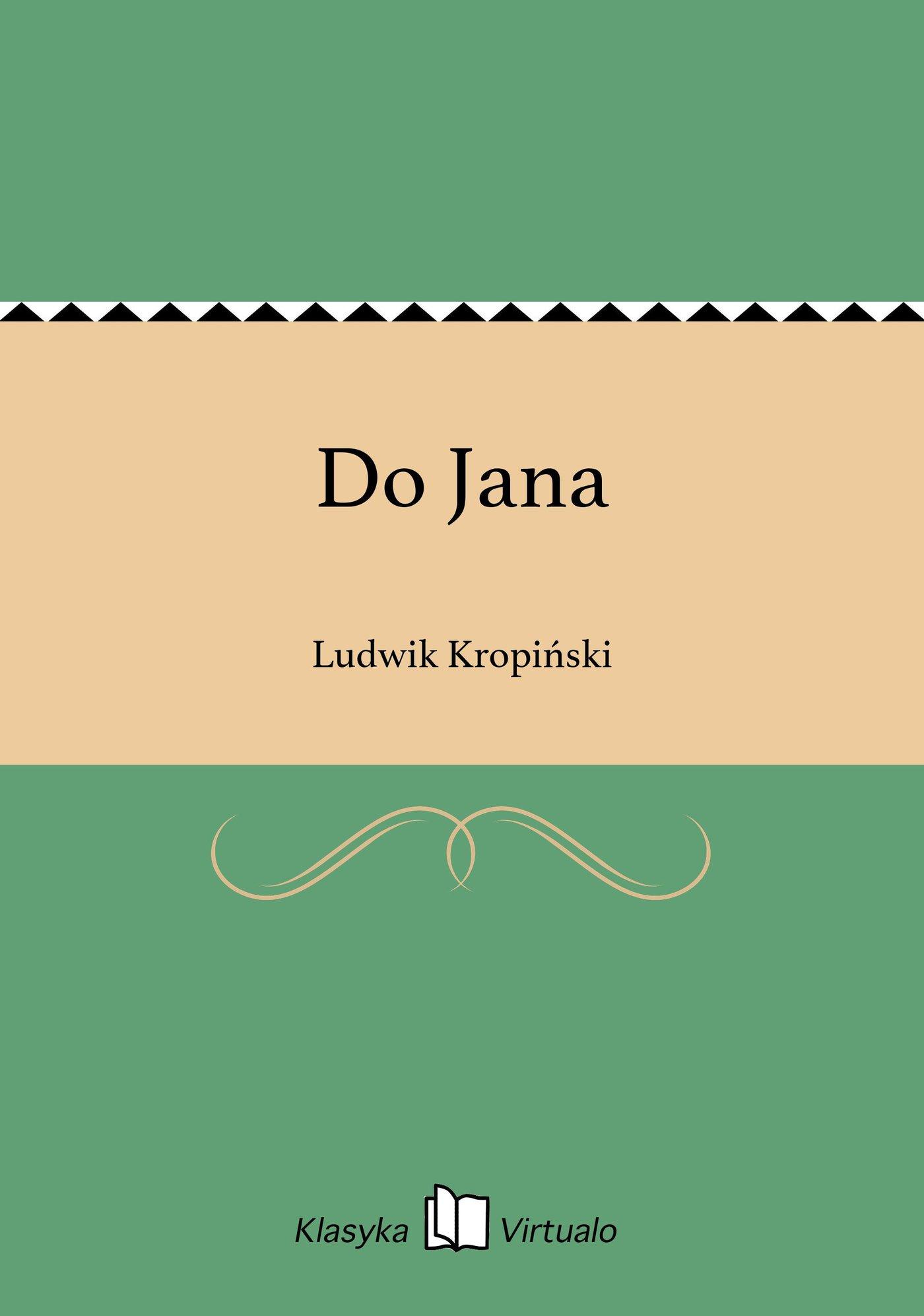 Do Jana - Ebook (Książka na Kindle) do pobrania w formacie MOBI