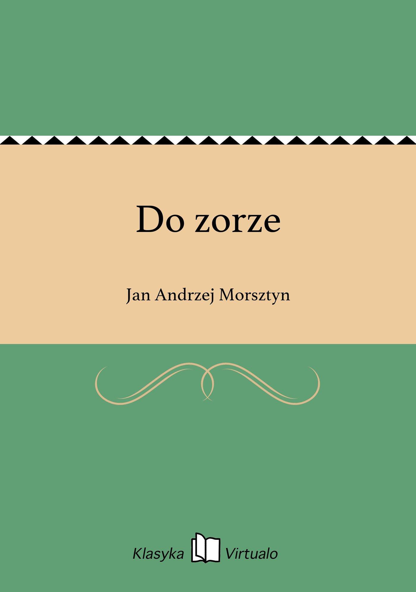 Do zorze - Ebook (Książka na Kindle) do pobrania w formacie MOBI
