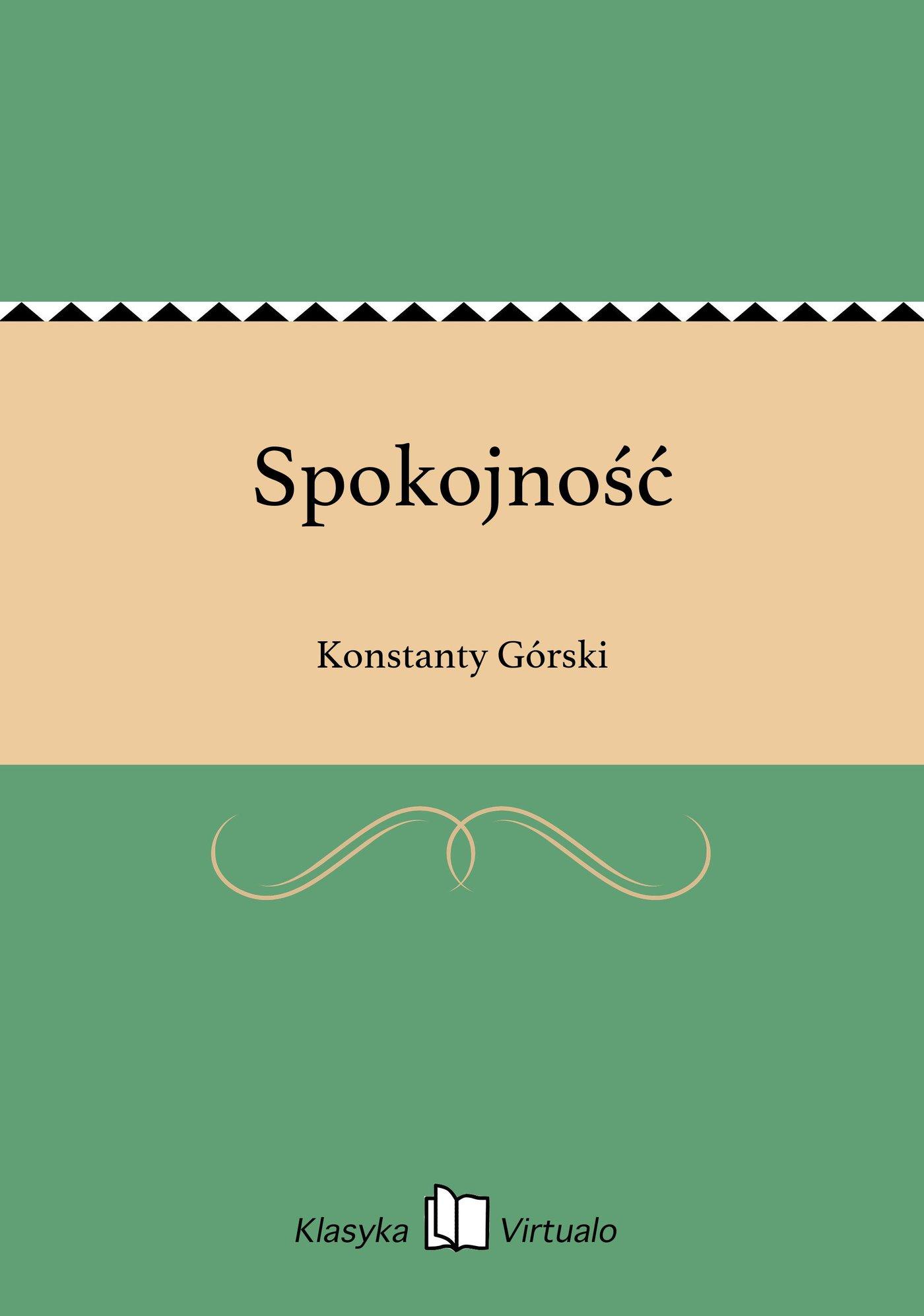 Spokojność - Ebook (Książka na Kindle) do pobrania w formacie MOBI