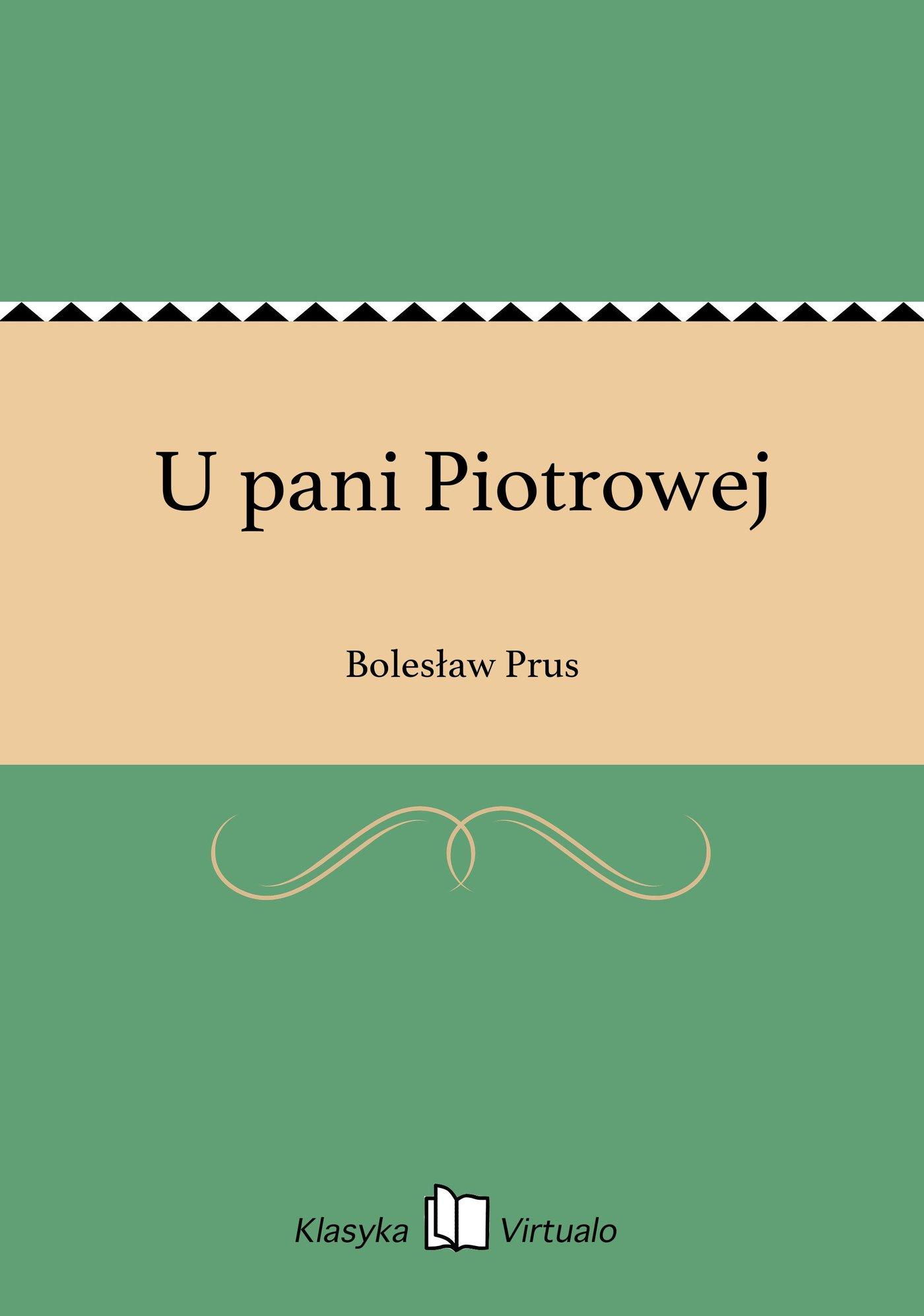 U pani Piotrowej - Ebook (Książka na Kindle) do pobrania w formacie MOBI