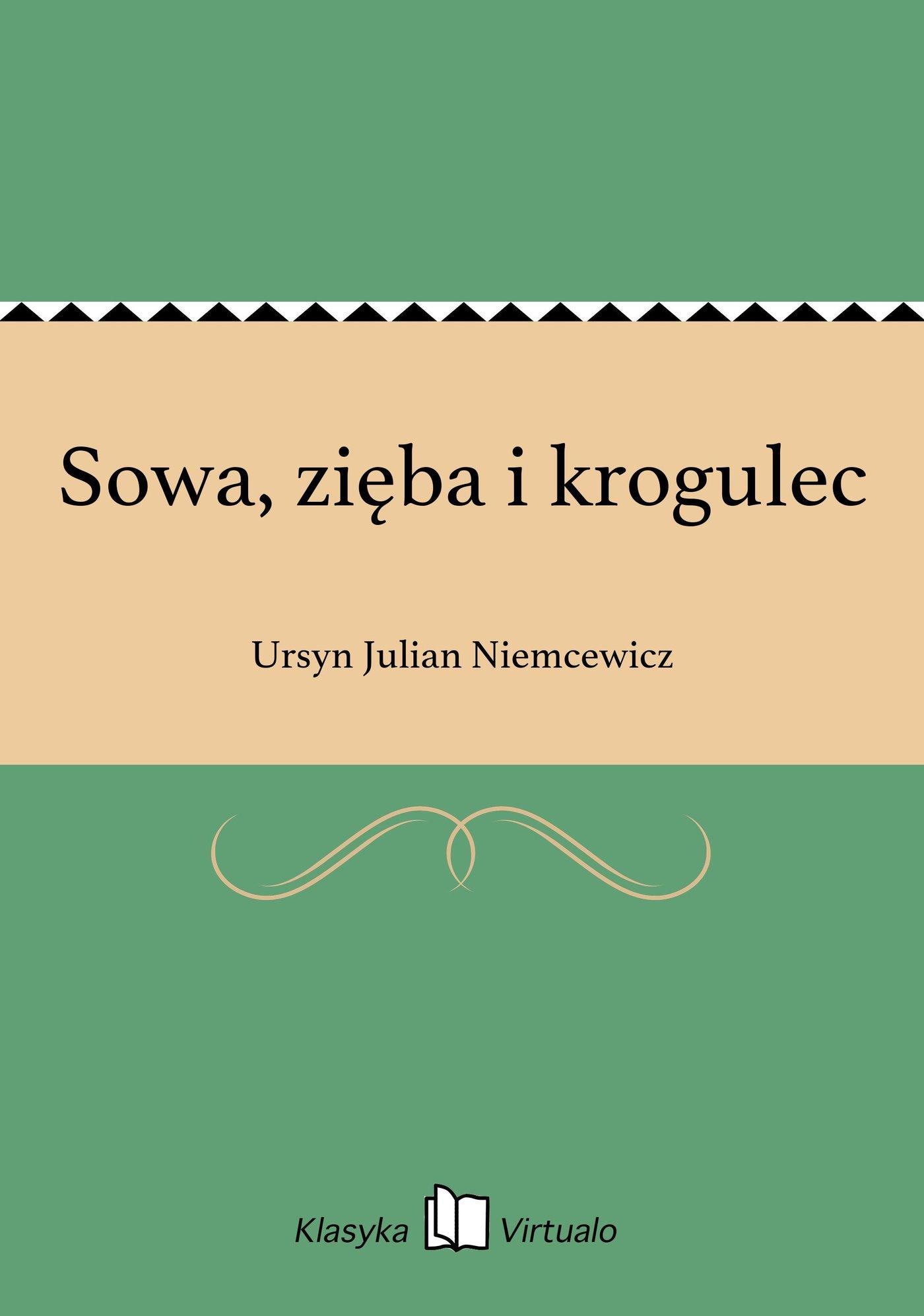 Sowa, zięba i krogulec - Ebook (Książka na Kindle) do pobrania w formacie MOBI