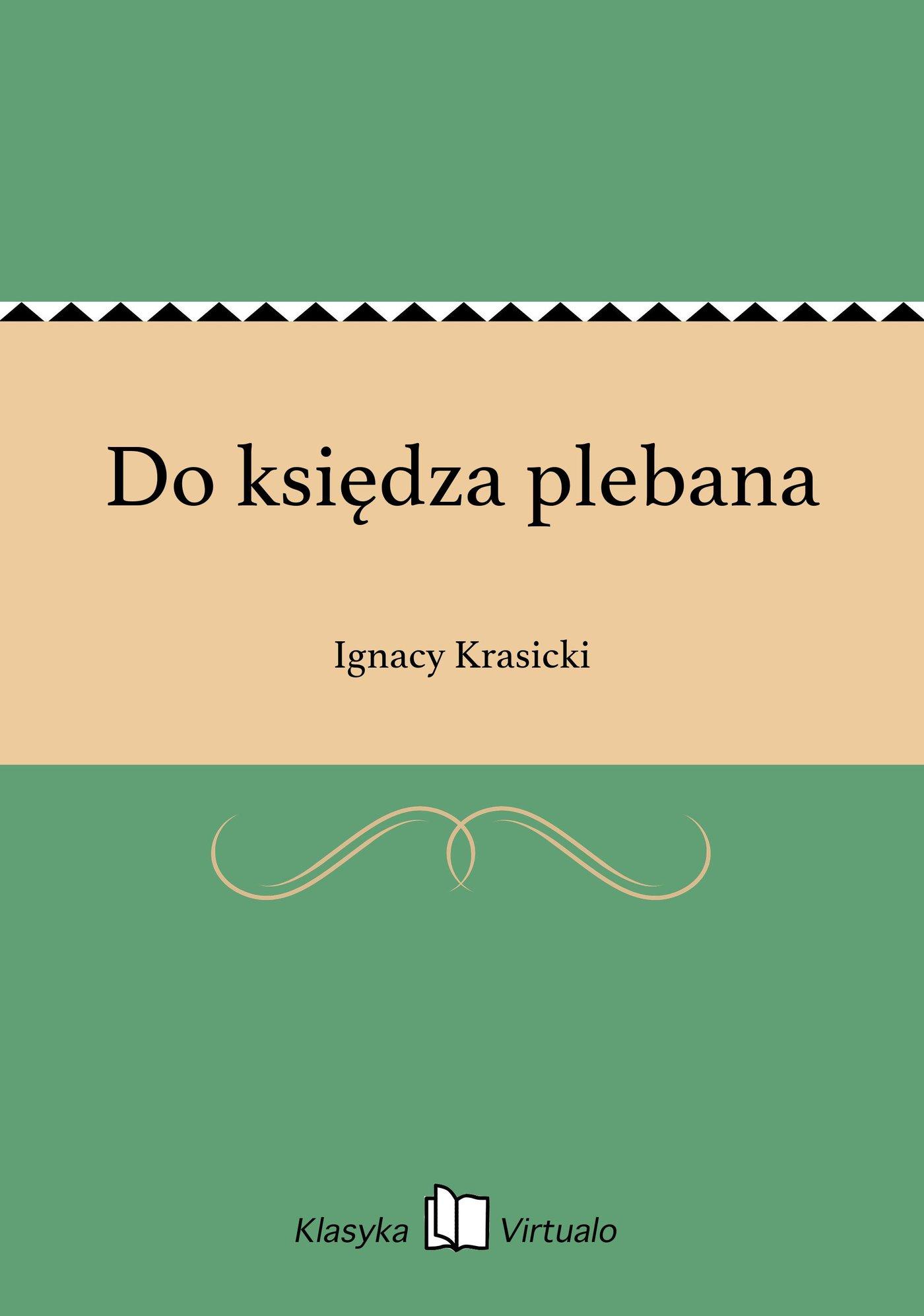 Do księdza plebana - Ebook (Książka na Kindle) do pobrania w formacie MOBI