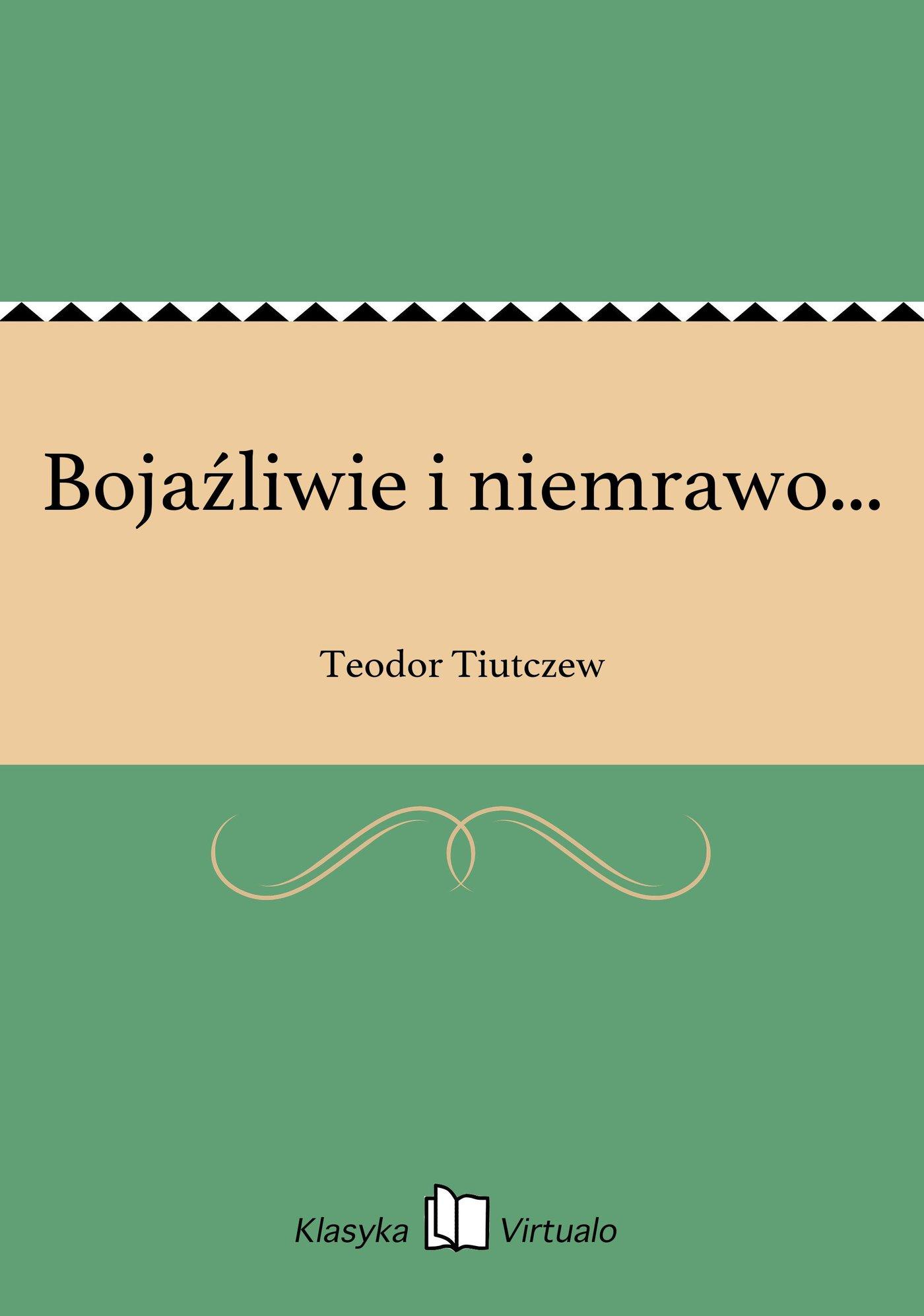 Bojaźliwie i niemrawo... - Ebook (Książka na Kindle) do pobrania w formacie MOBI