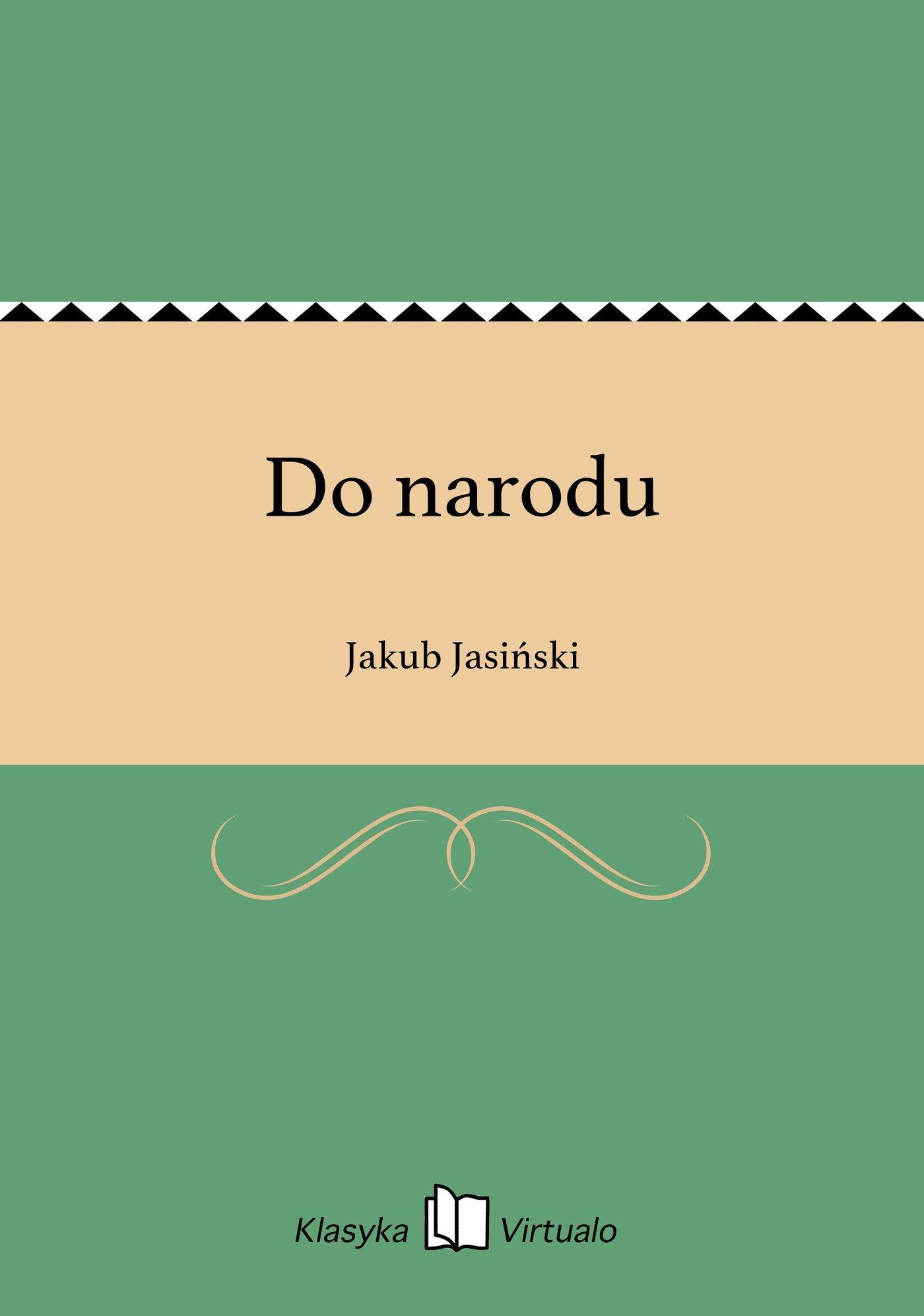 Do narodu - Ebook (Książka na Kindle) do pobrania w formacie MOBI