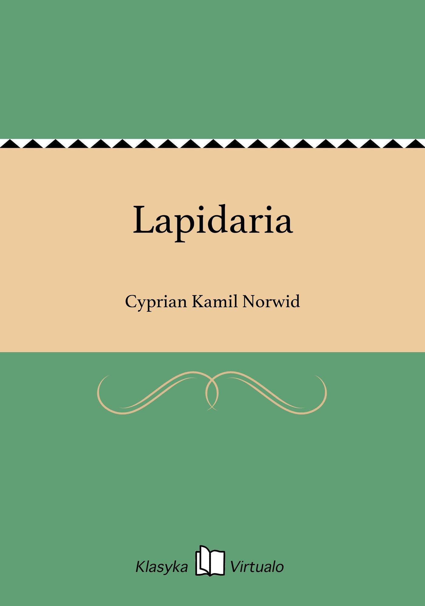 Lapidaria - Ebook (Książka na Kindle) do pobrania w formacie MOBI