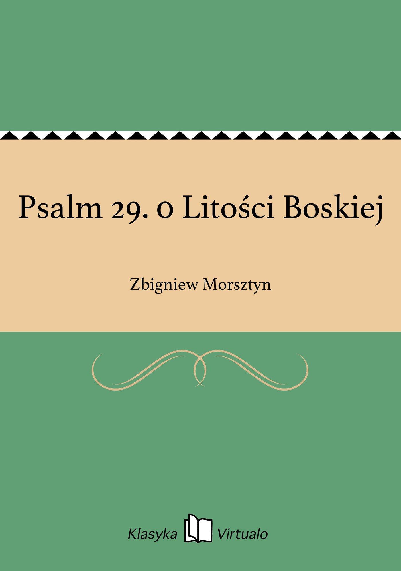 Psalm 29. 0 Litości Boskiej - Ebook (Książka na Kindle) do pobrania w formacie MOBI