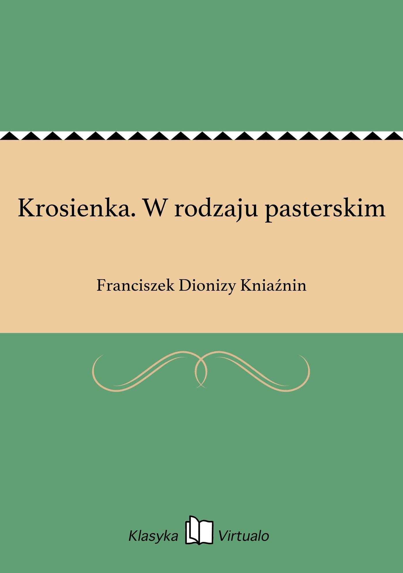Krosienka. W rodzaju pasterskim - Ebook (Książka na Kindle) do pobrania w formacie MOBI