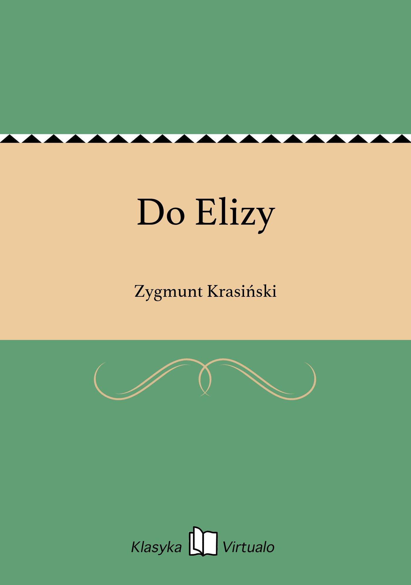 Do Elizy - Ebook (Książka na Kindle) do pobrania w formacie MOBI