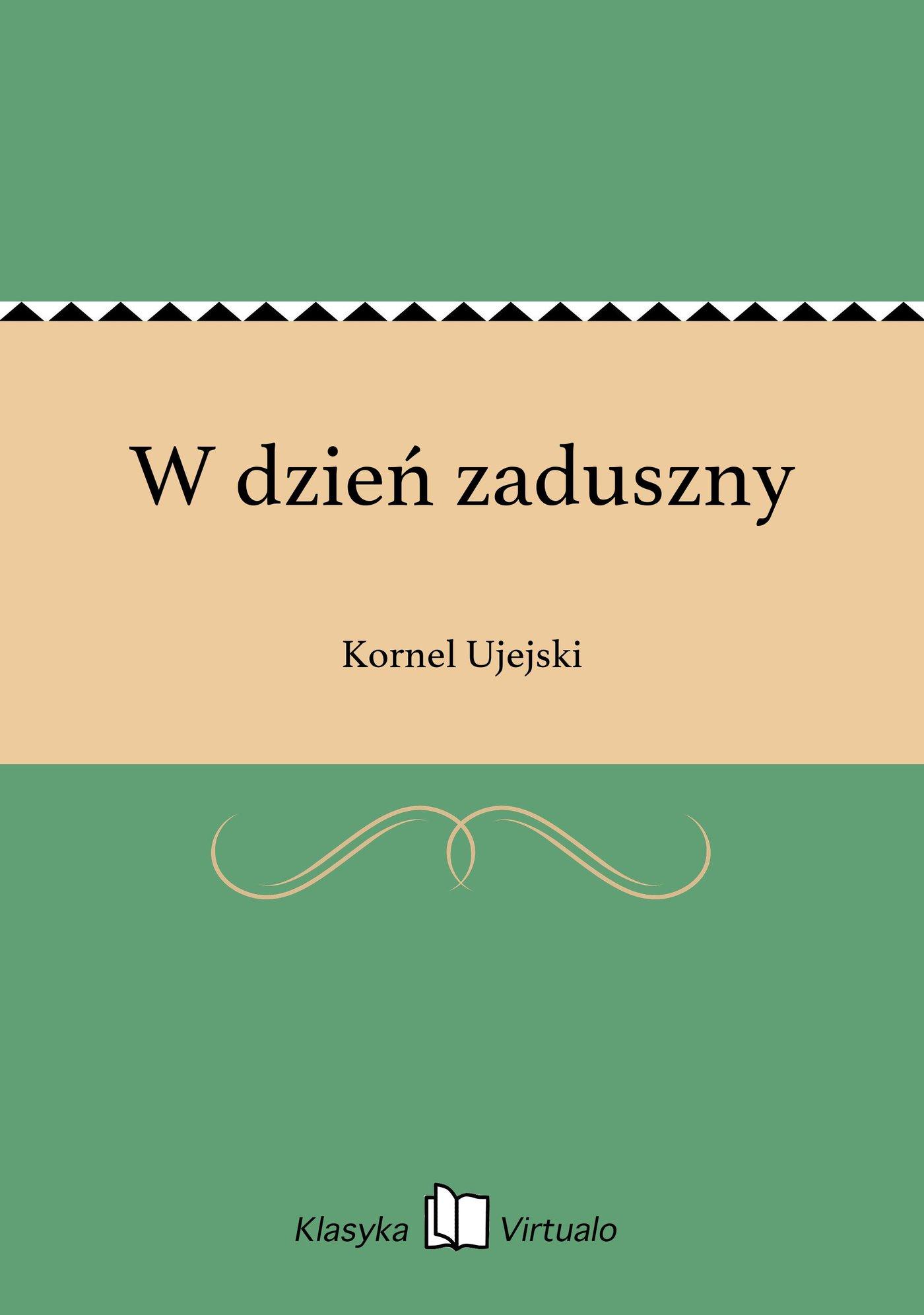 W dzień zaduszny - Ebook (Książka na Kindle) do pobrania w formacie MOBI