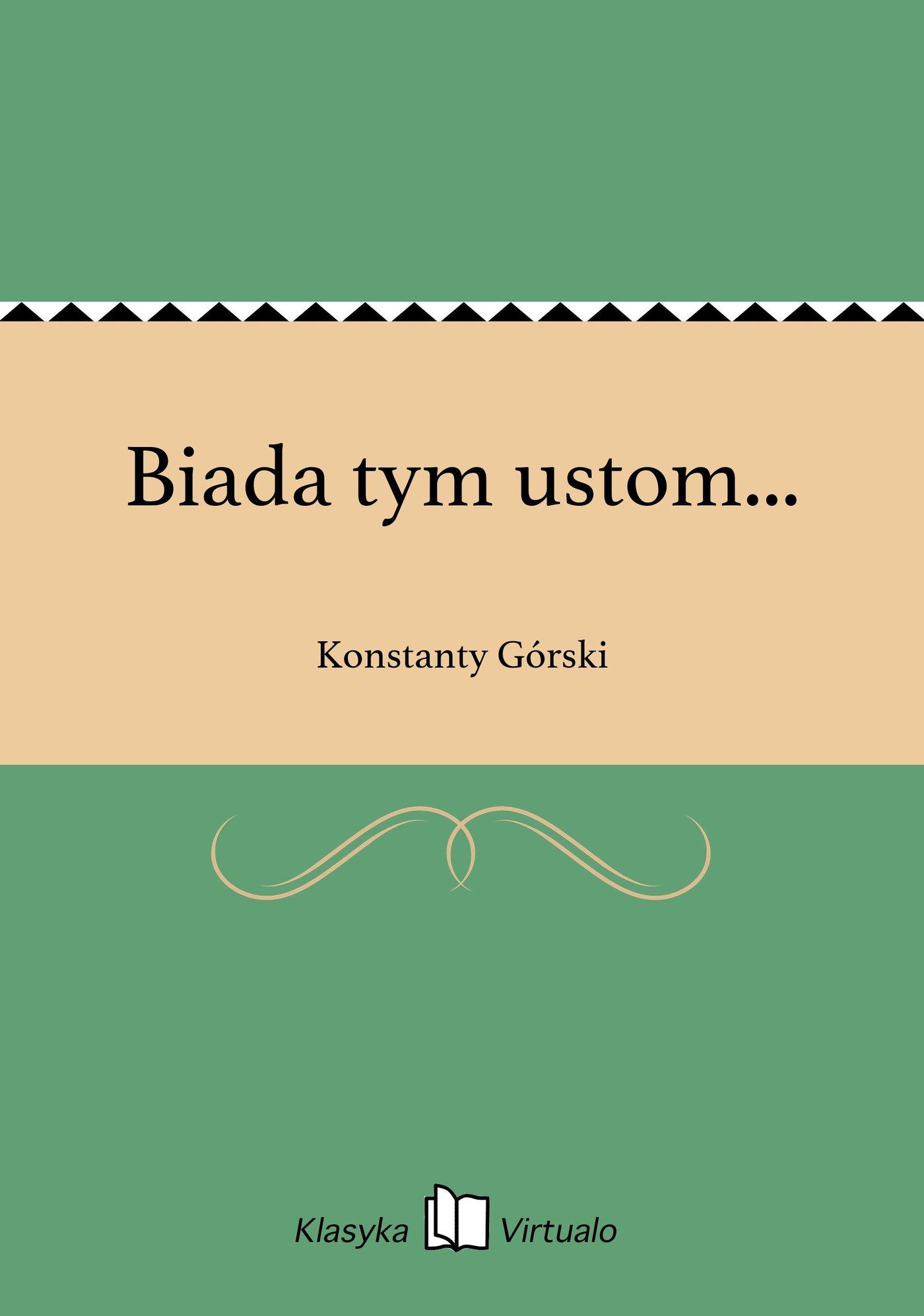 Biada tym ustom... - Ebook (Książka na Kindle) do pobrania w formacie MOBI