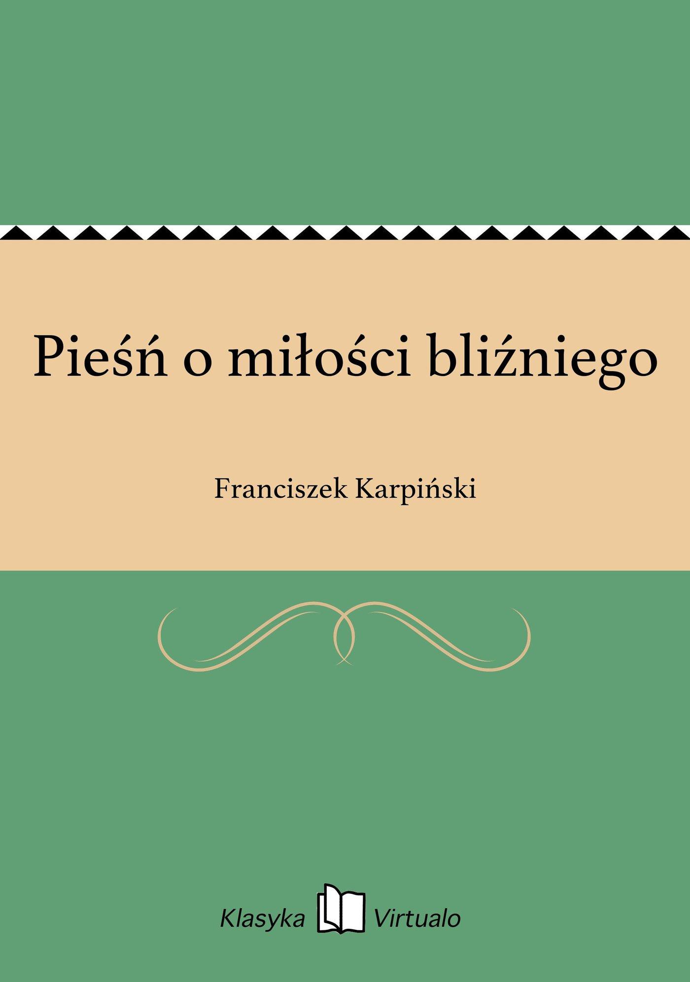 Pieśń o miłości bliźniego - Ebook (Książka na Kindle) do pobrania w formacie MOBI
