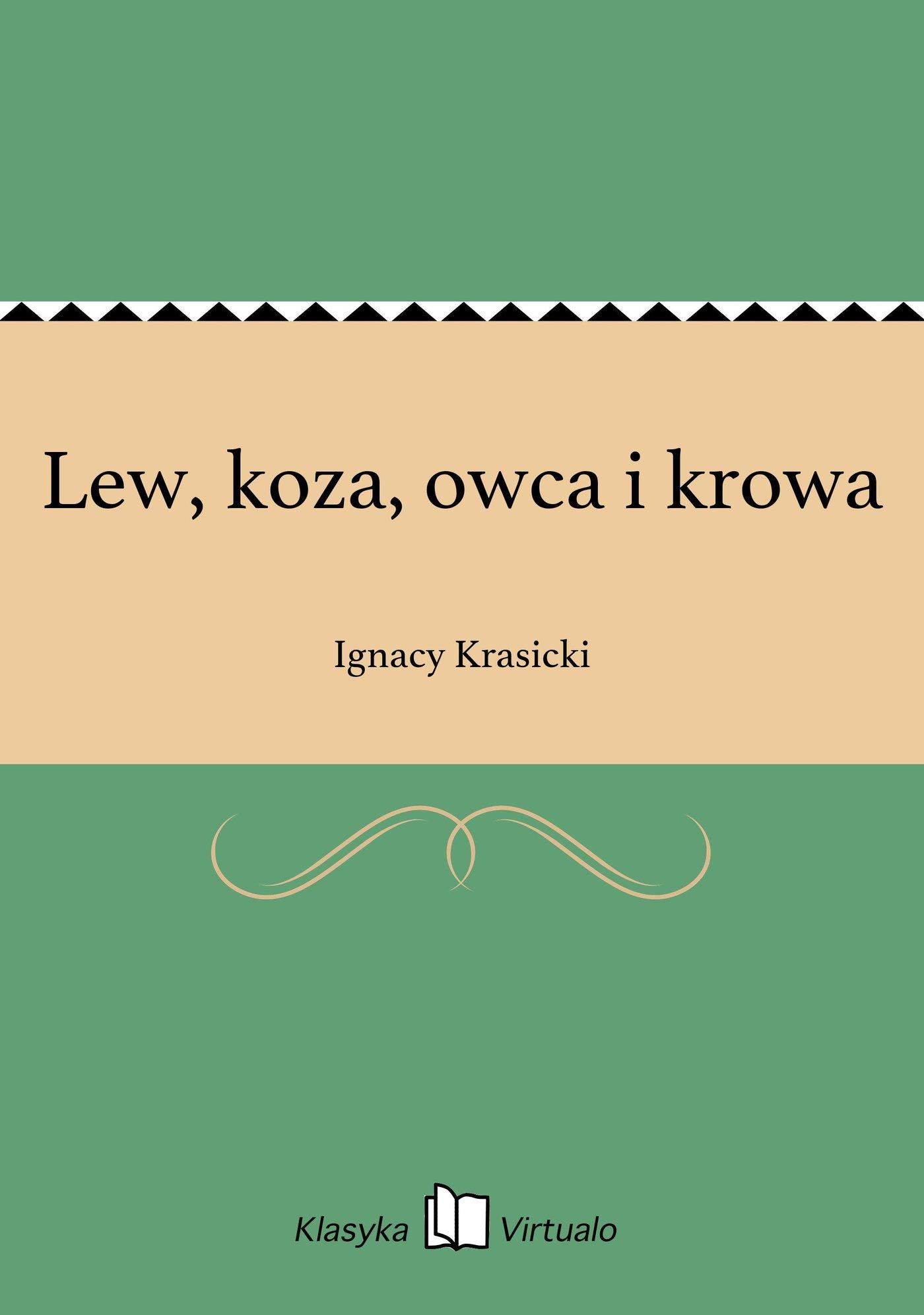 Lew, koza, owca i krowa - Ebook (Książka na Kindle) do pobrania w formacie MOBI