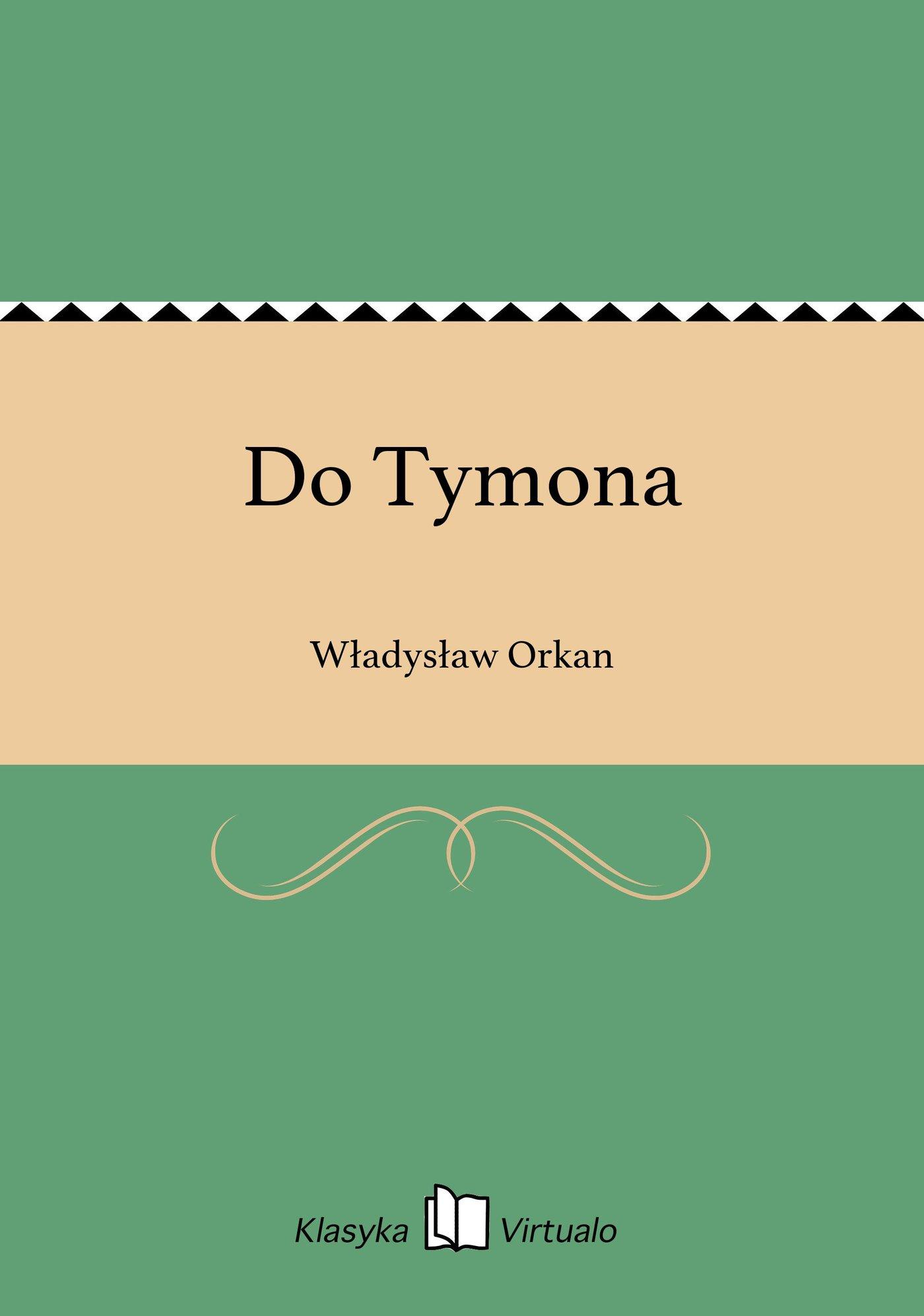 Do Tymona - Ebook (Książka na Kindle) do pobrania w formacie MOBI