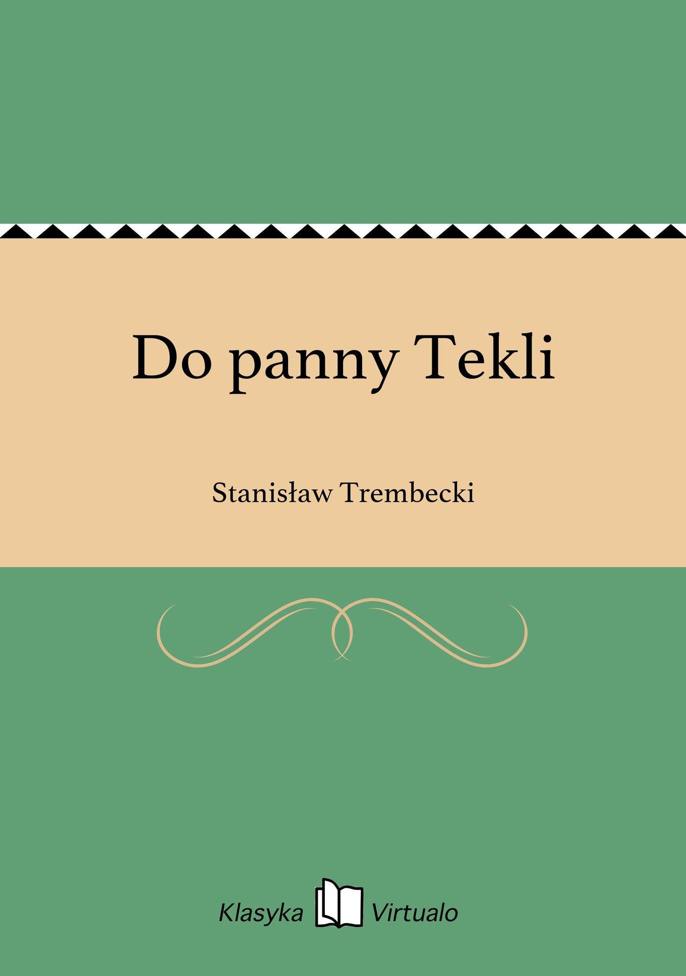 Do panny Tekli - Ebook (Książka na Kindle) do pobrania w formacie MOBI