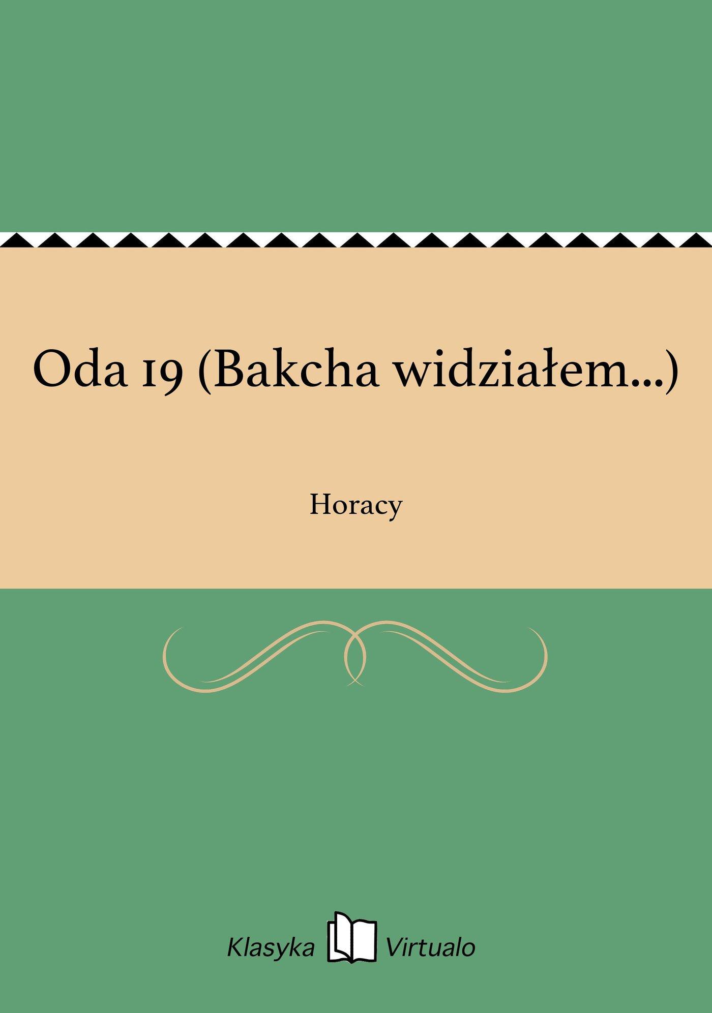 Oda 19 (Bakcha widziałem...) - Ebook (Książka na Kindle) do pobrania w formacie MOBI