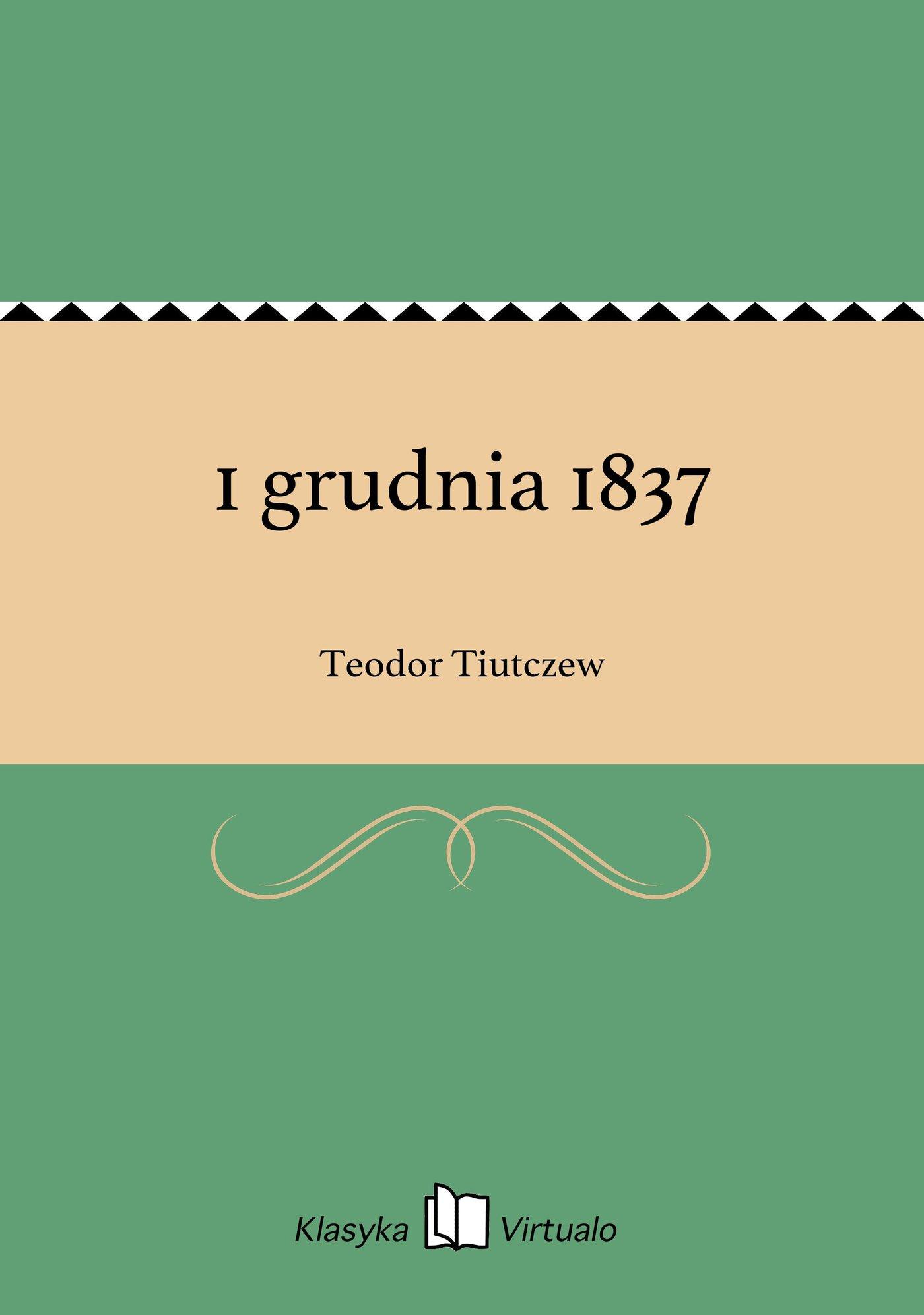 1 grudnia 1837 - Ebook (Książka na Kindle) do pobrania w formacie MOBI