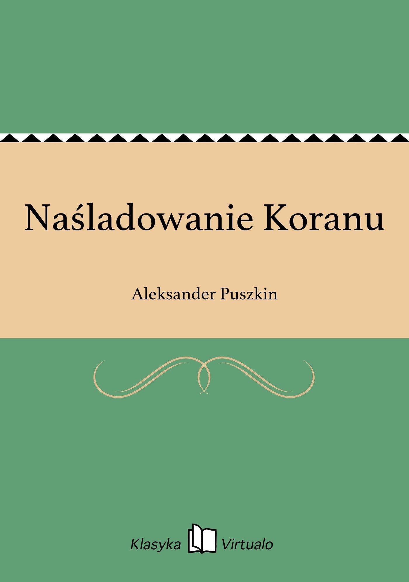 Naśladowanie Koranu - Ebook (Książka na Kindle) do pobrania w formacie MOBI