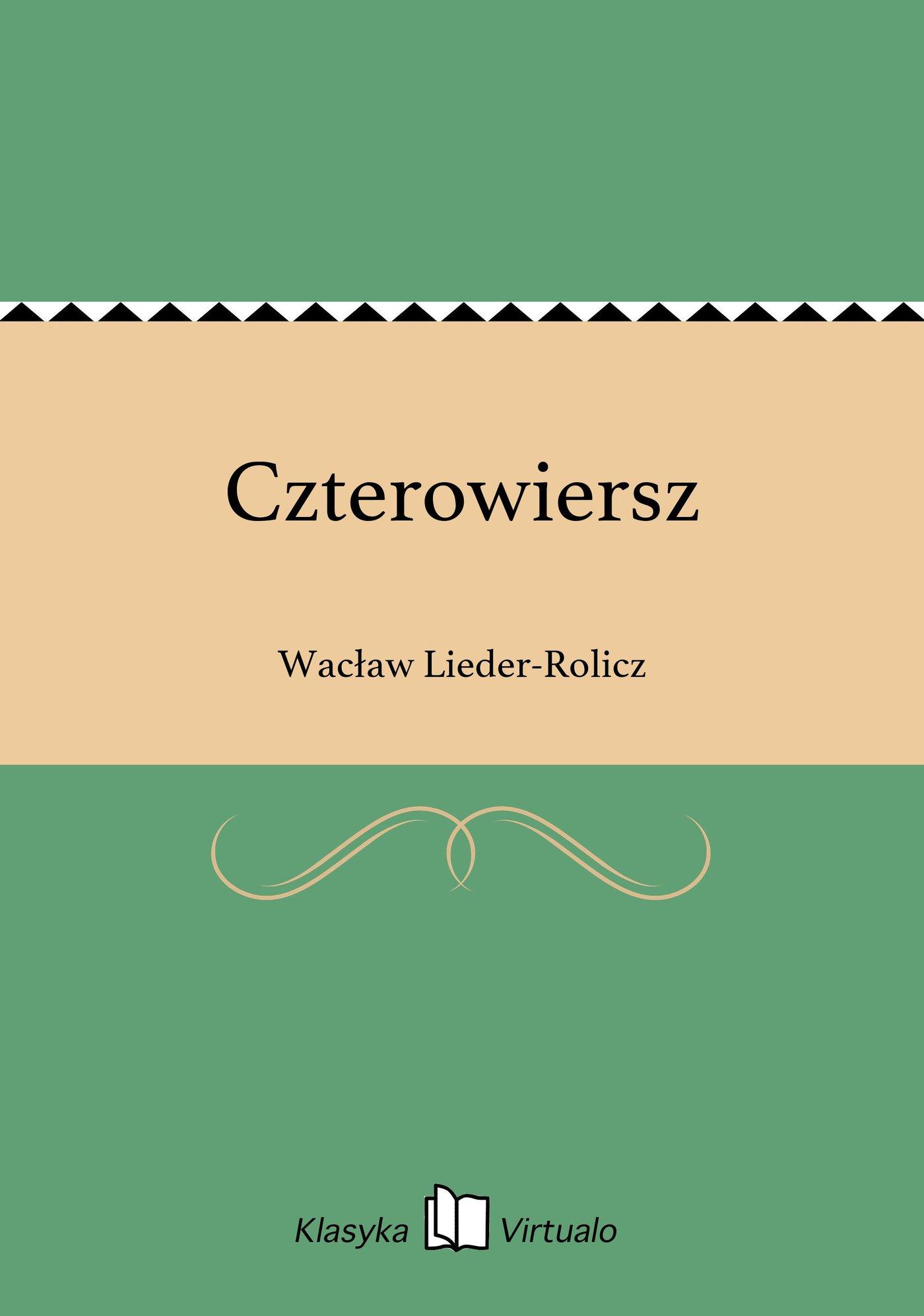 Czterowiersz - Ebook (Książka na Kindle) do pobrania w formacie MOBI