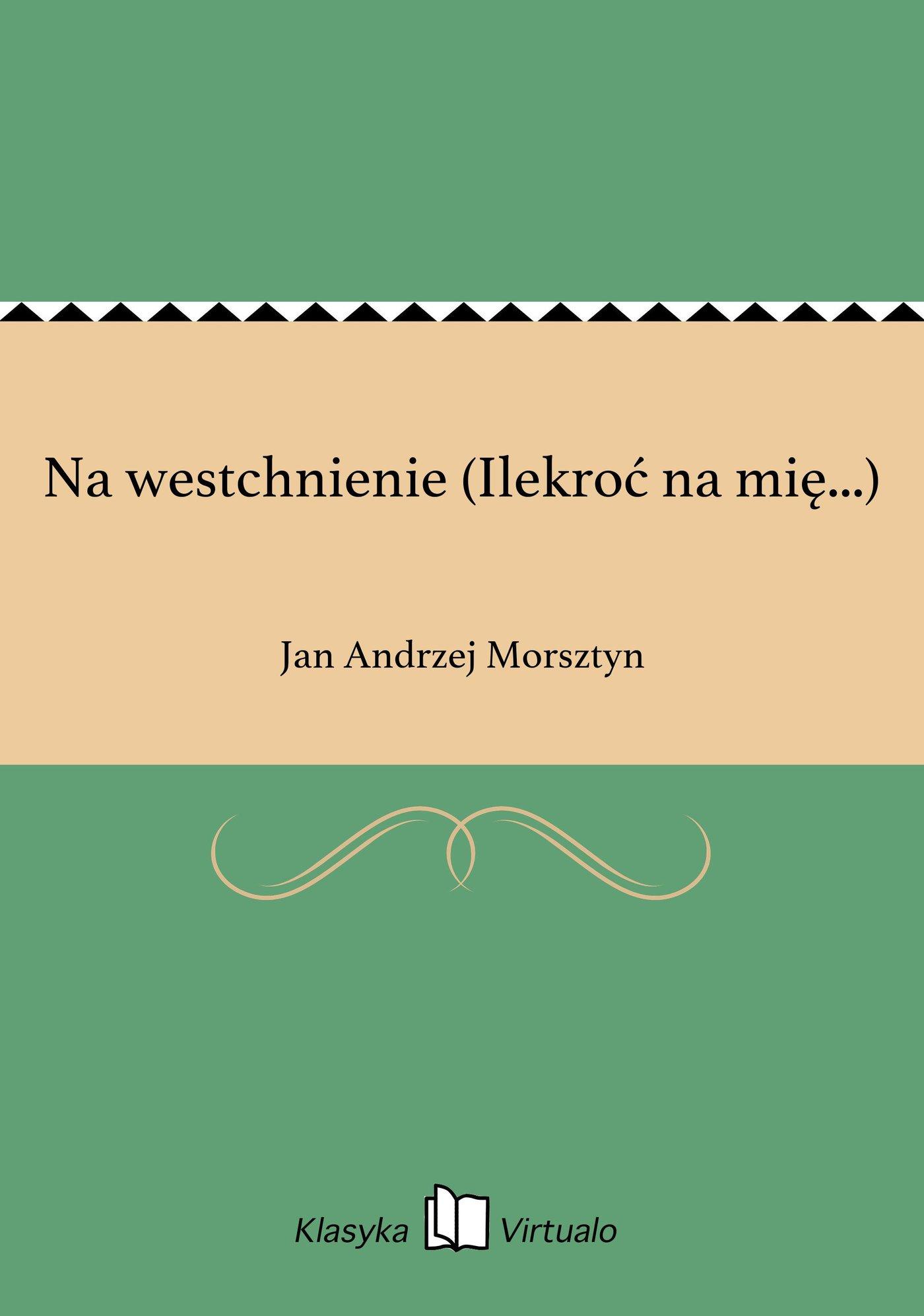 Na westchnienie (Ilekroć na mię...) - Ebook (Książka na Kindle) do pobrania w formacie MOBI