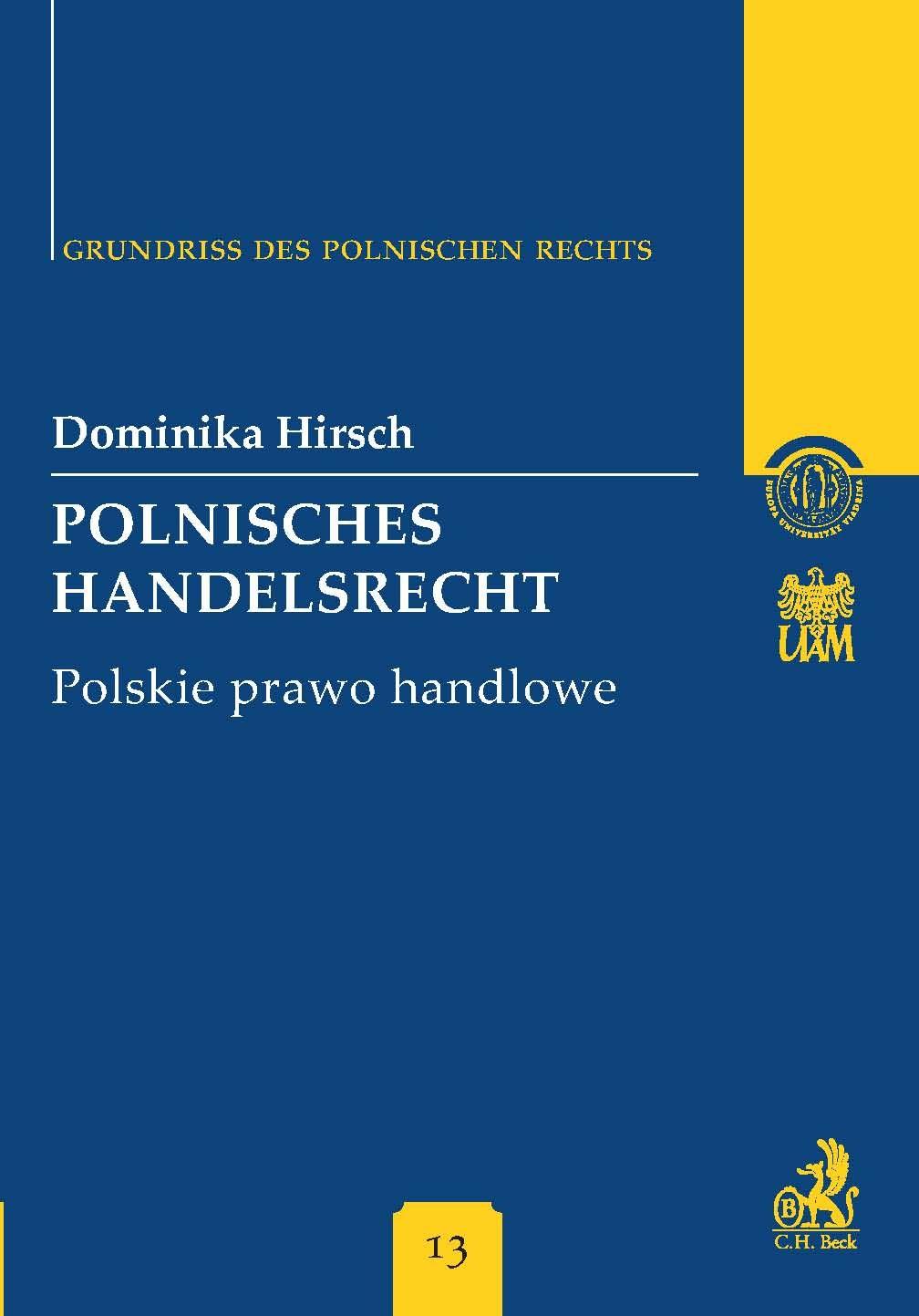Polnisches Handelsrecht. Polskie prawo handlowe Band 13 - Ebook (Książka PDF) do pobrania w formacie PDF