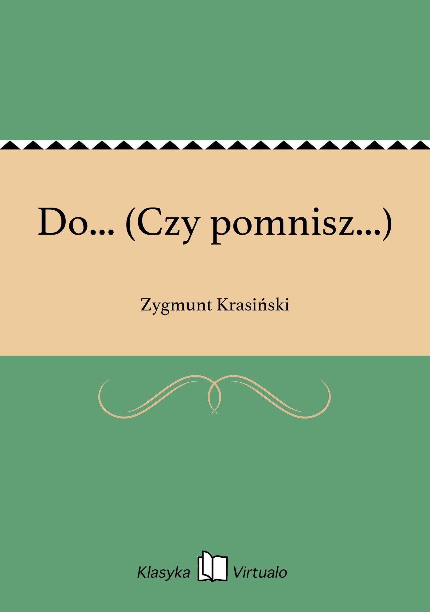 Do... (Czy pomnisz...) - Ebook (Książka na Kindle) do pobrania w formacie MOBI