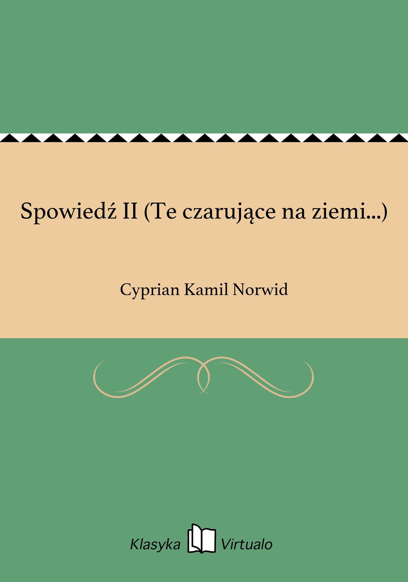 Spowiedź II (Te czarujące na ziemi...) - Ebook (Książka na Kindle) do pobrania w formacie MOBI