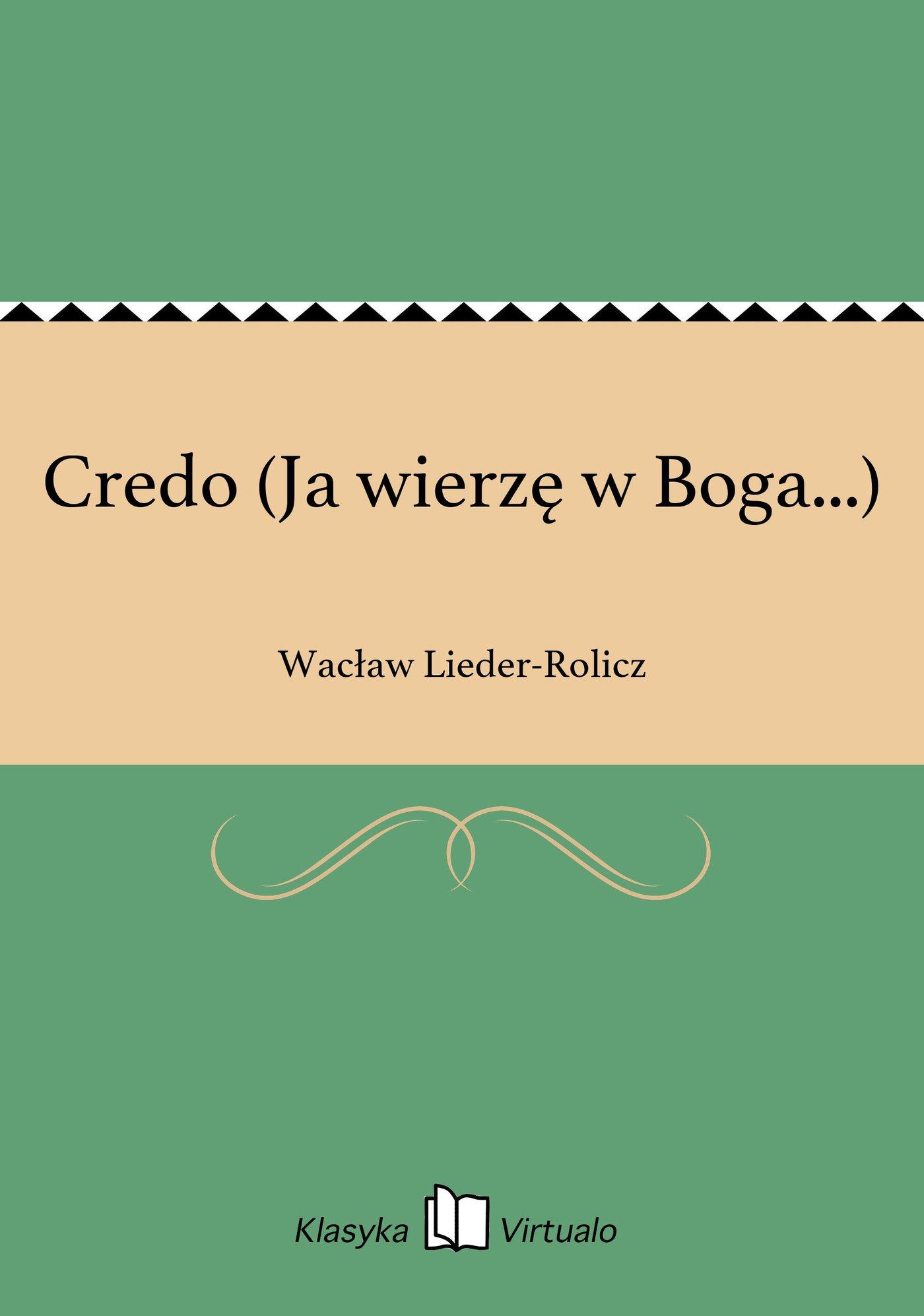 Credo (Ja wierzę w Boga...) - Ebook (Książka na Kindle) do pobrania w formacie MOBI
