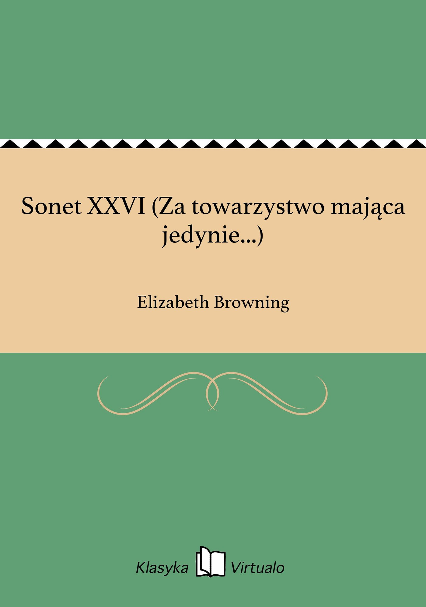 Sonet XXVI (Za towarzystwo mająca jedynie...) - Ebook (Książka na Kindle) do pobrania w formacie MOBI