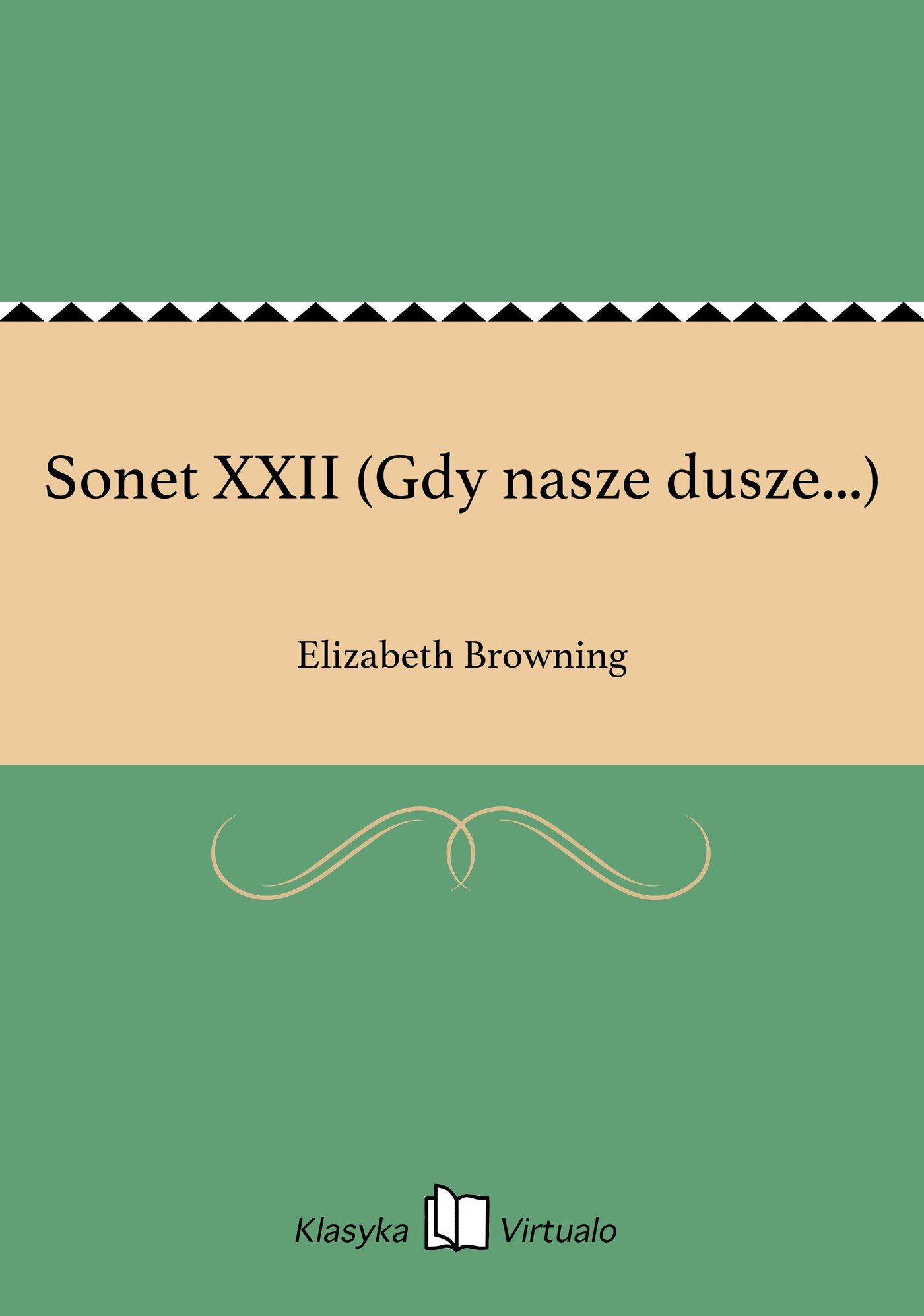Sonet XXII (Gdy nasze dusze...) - Ebook (Książka na Kindle) do pobrania w formacie MOBI