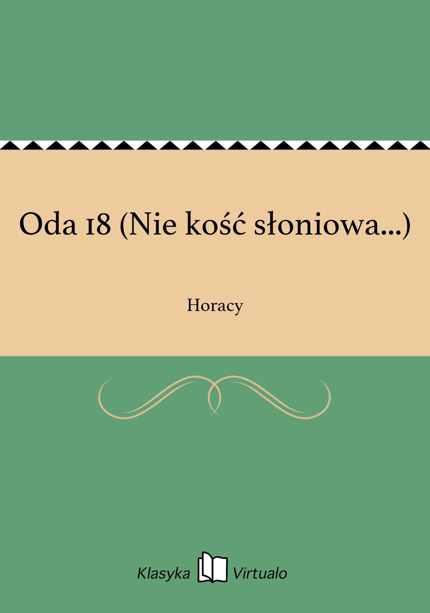 Oda 18 (Nie kość słoniowa...) - Ebook (Książka na Kindle) do pobrania w formacie MOBI