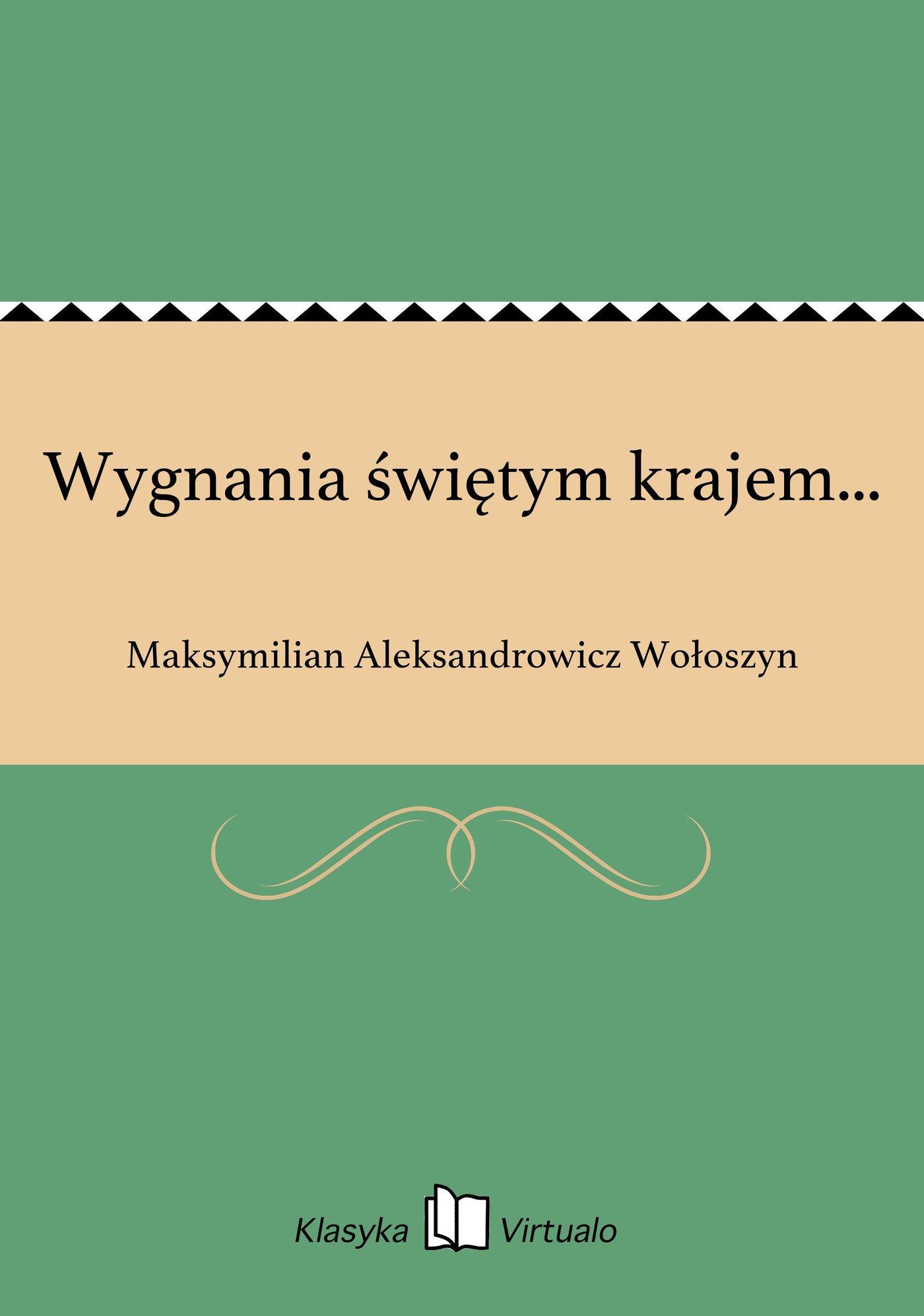 Wygnania świętym krajem... - Ebook (Książka na Kindle) do pobrania w formacie MOBI