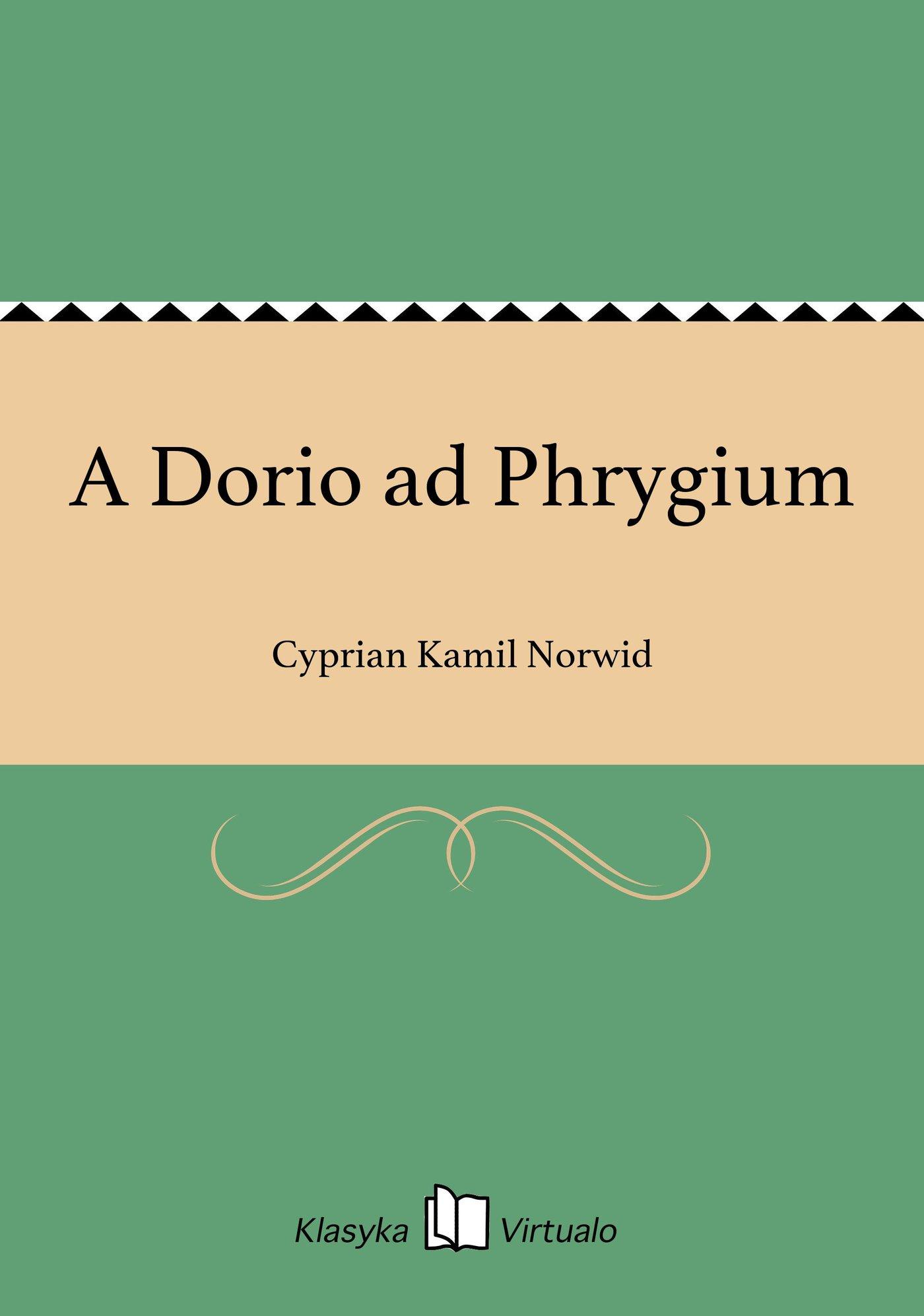 A Dorio ad Phrygium - Ebook (Książka na Kindle) do pobrania w formacie MOBI